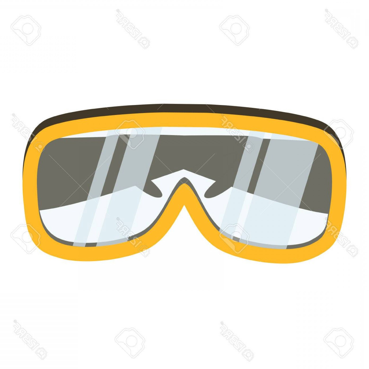 Construction Safety Goggles Vector: Photostock Vector Safety Glasses Tool Icon Industrial Or Household Instrument For General Or Utility Purposes Protecti