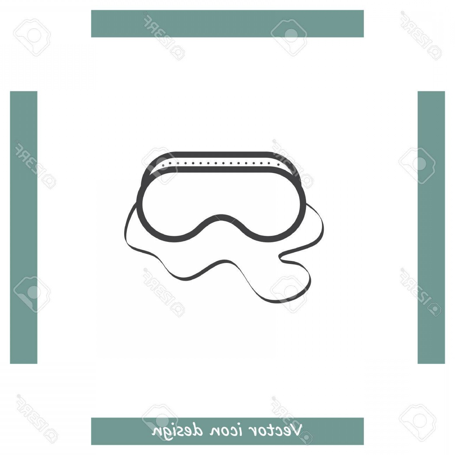 Construction Safety Goggles Vector: Photostock Vector Safety Work Glasses Vector Icon Construction Eye Protection Sign Protective Mask Symbol