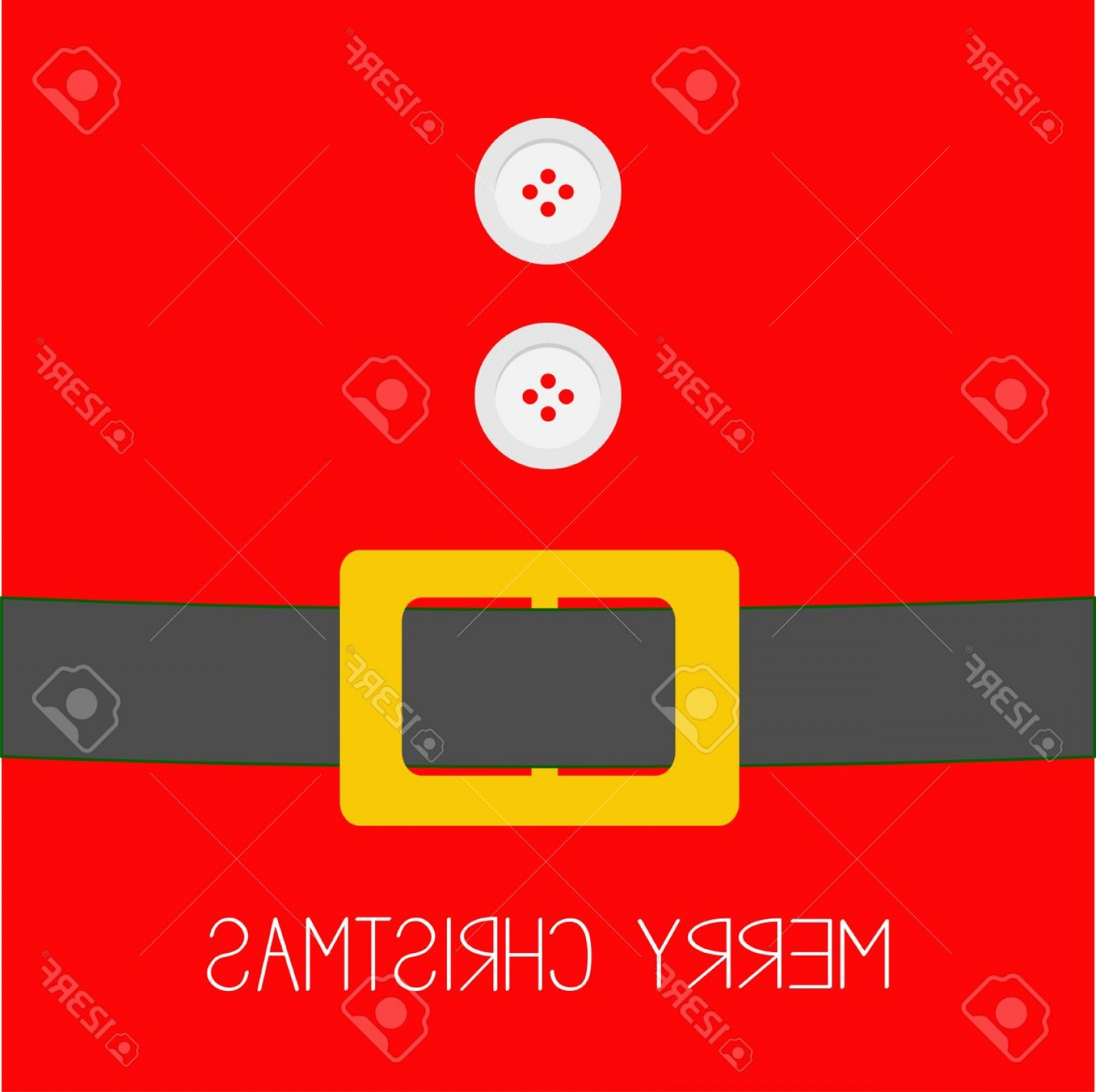 Vector Santa Belt: Photostock Vector Santa Claus Coat With Fur Buttons And Belt Merry Christmas Background Card Flat Design Vector Illust