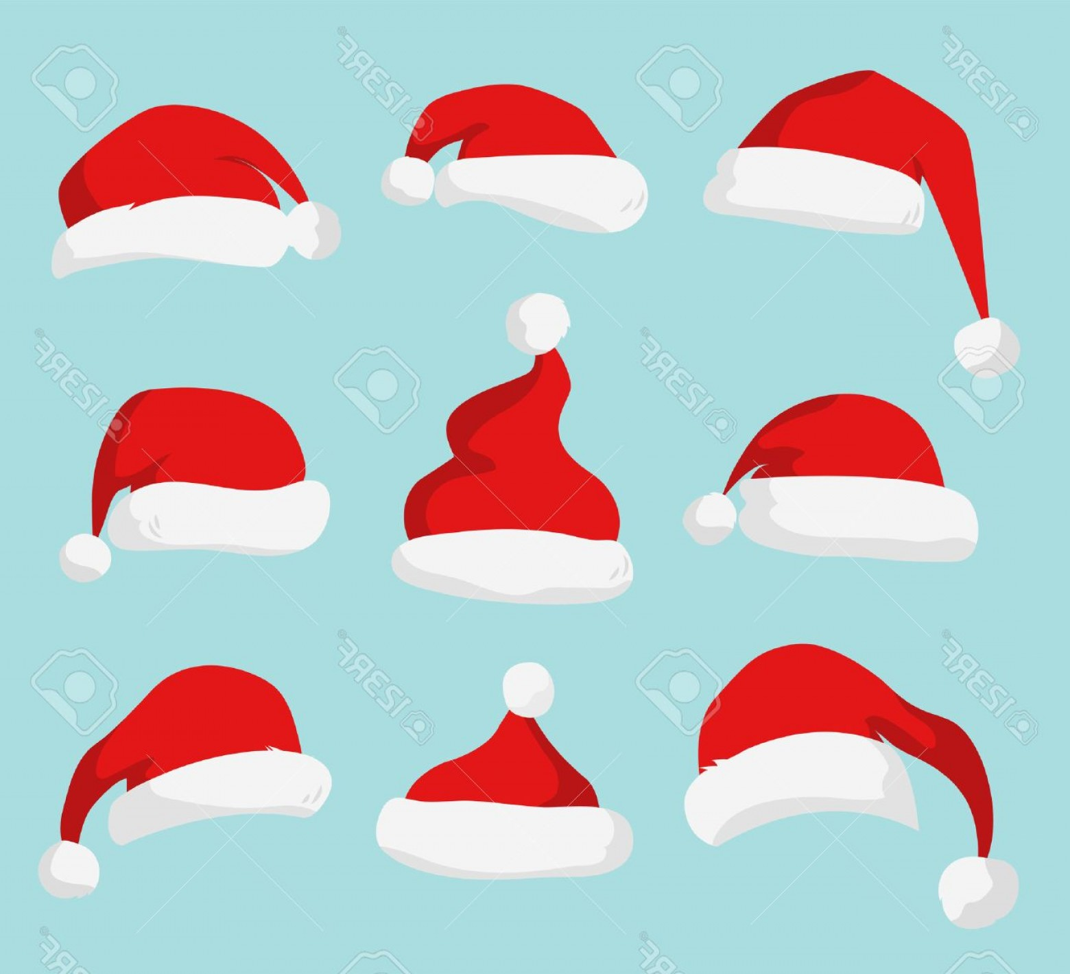 Santa Hat Vector Logo: Photostock Vector Santa Claus Red Hat Silhouette Santa Hat Santa Red Hat Isolated On Background Santa Hat New Year