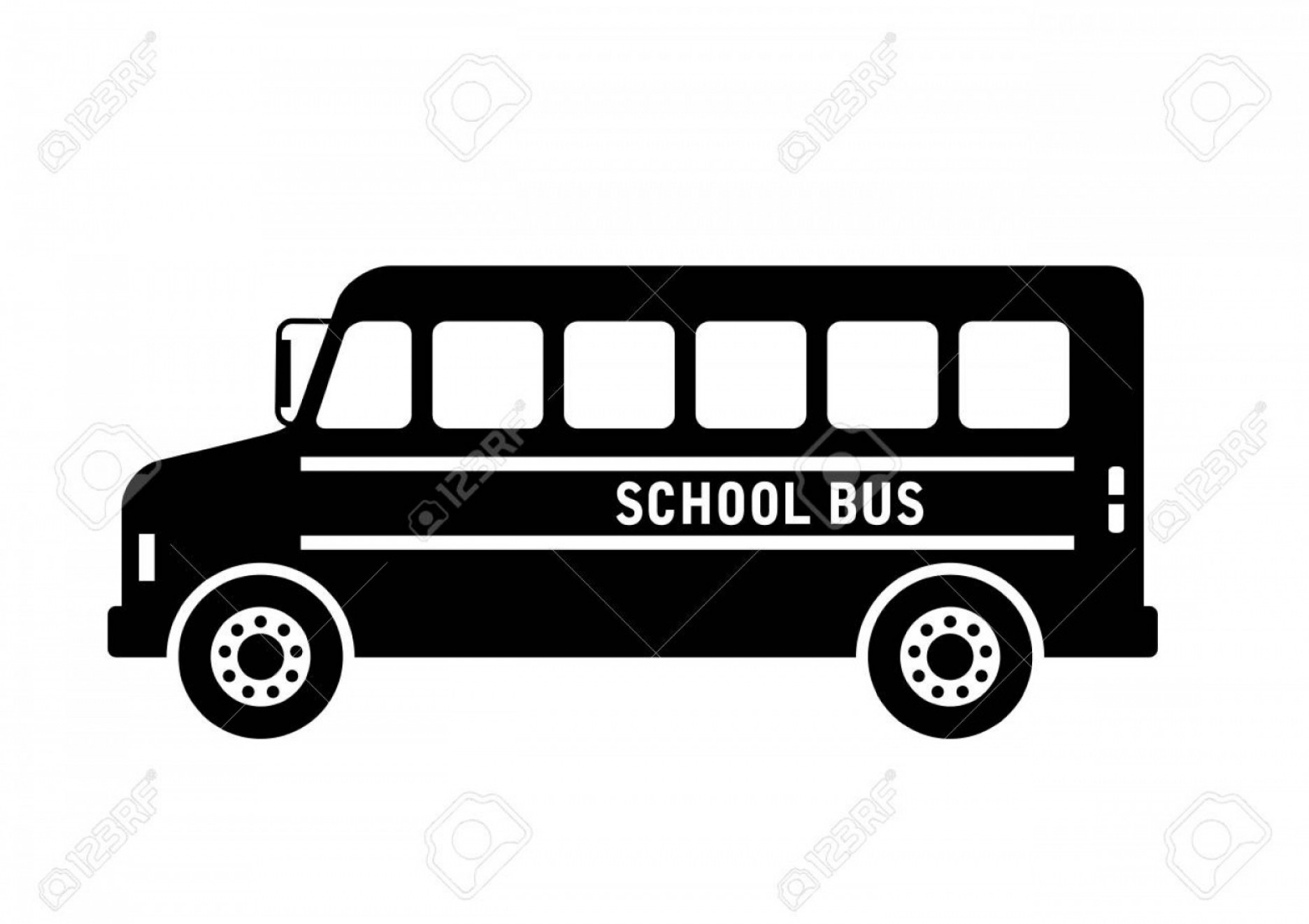 Pic Bus Vector Format: Photostock Vector School Bus Vector Icon On White Background Isolated Object