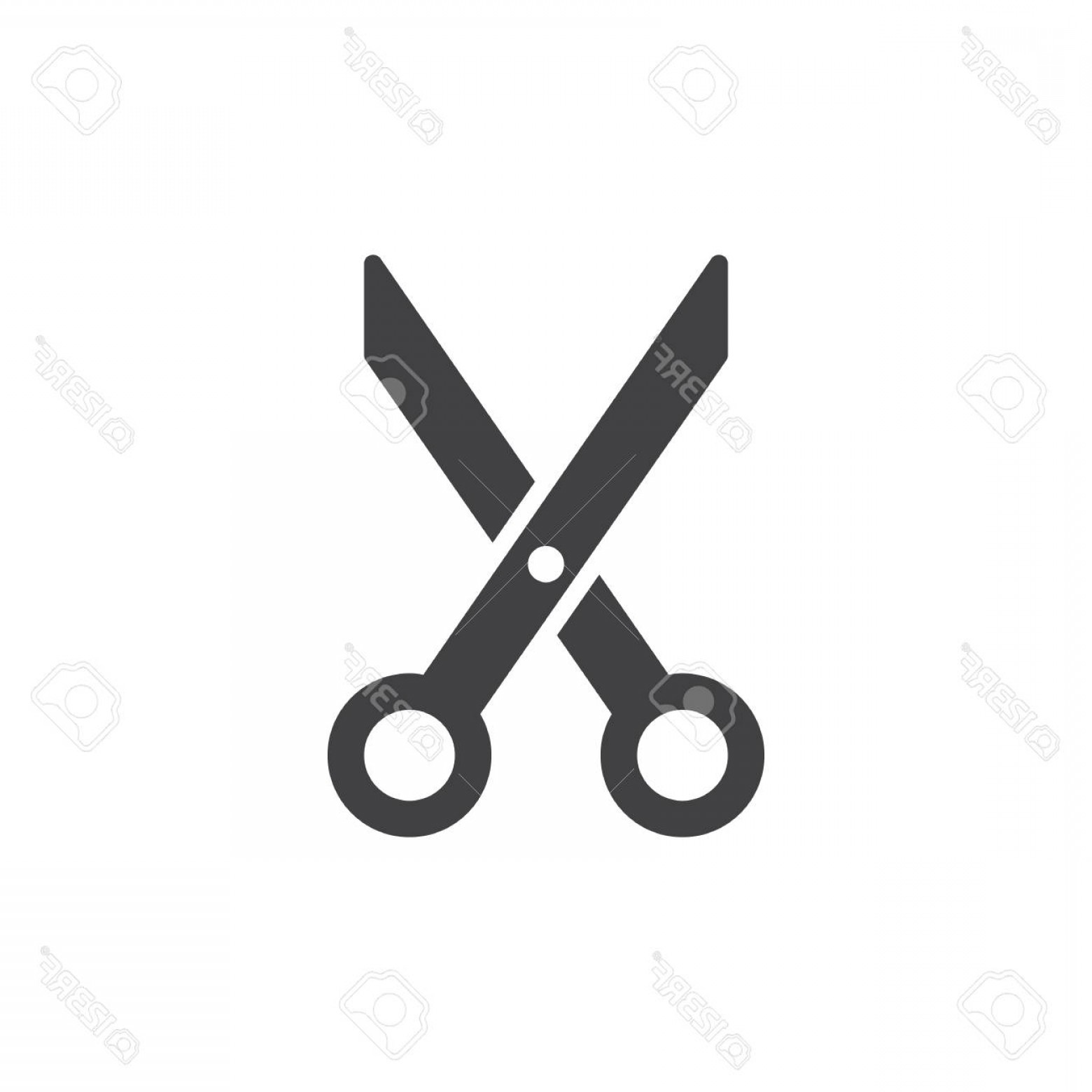 Cut Symbol Vector: Photostock Vector Scissors Cut Icon Vector Filled Flat Sign Solid Pictogram Isolated On White Barbershop Symbol Logo I
