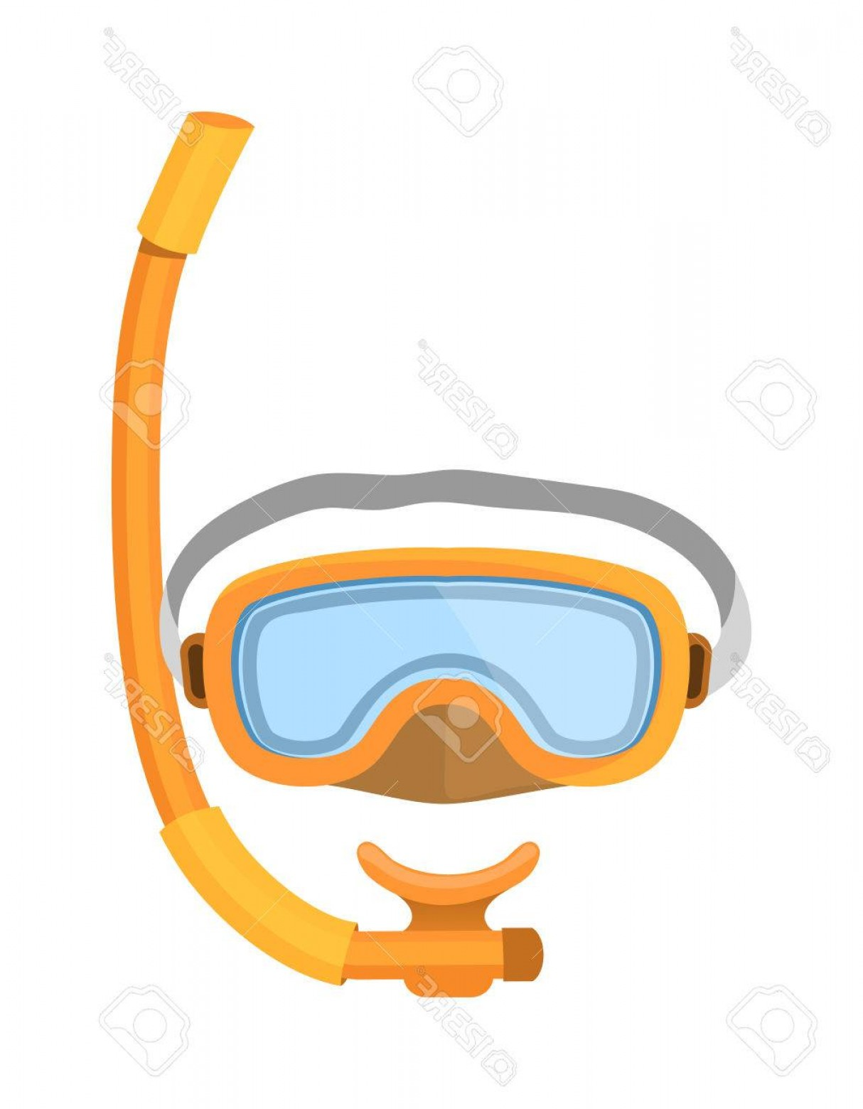 Dive Mask E Vectors: Photostock Vector Scuba Diver Mask Vector Equipment Sport Underwater Diver Mask Vector Water Sea And Diving Vector Fla