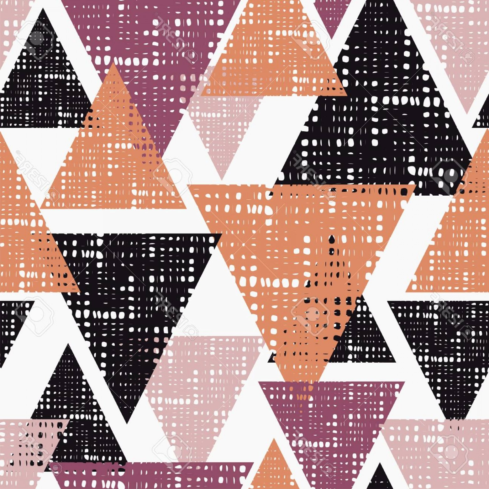 Rapport Vector: Photostock Vector Seamless Background Pattern Of Triangles With Holes Vector Illustration Textile Rapport