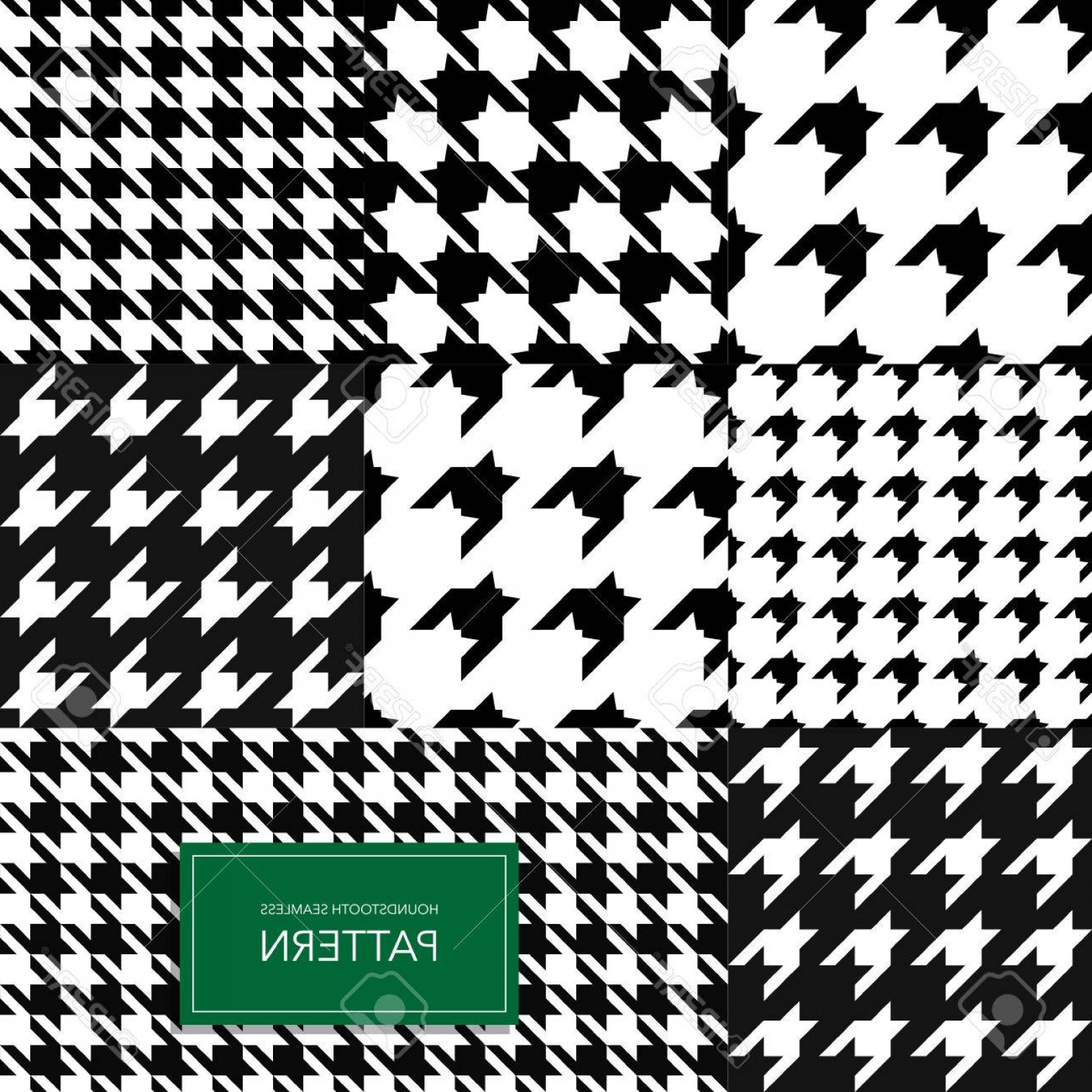 Houndstooth Vector: Photostock Vector Seamless Black And White Houndstooth Vector Background Retro Geometric Pattern For Clothing Fashion
