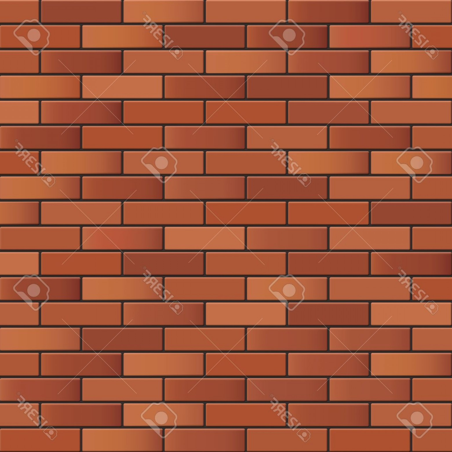 Wall Background Vector: Photostock Vector Seamless Brick Wall Background Vector Texture For Continuous Replicate
