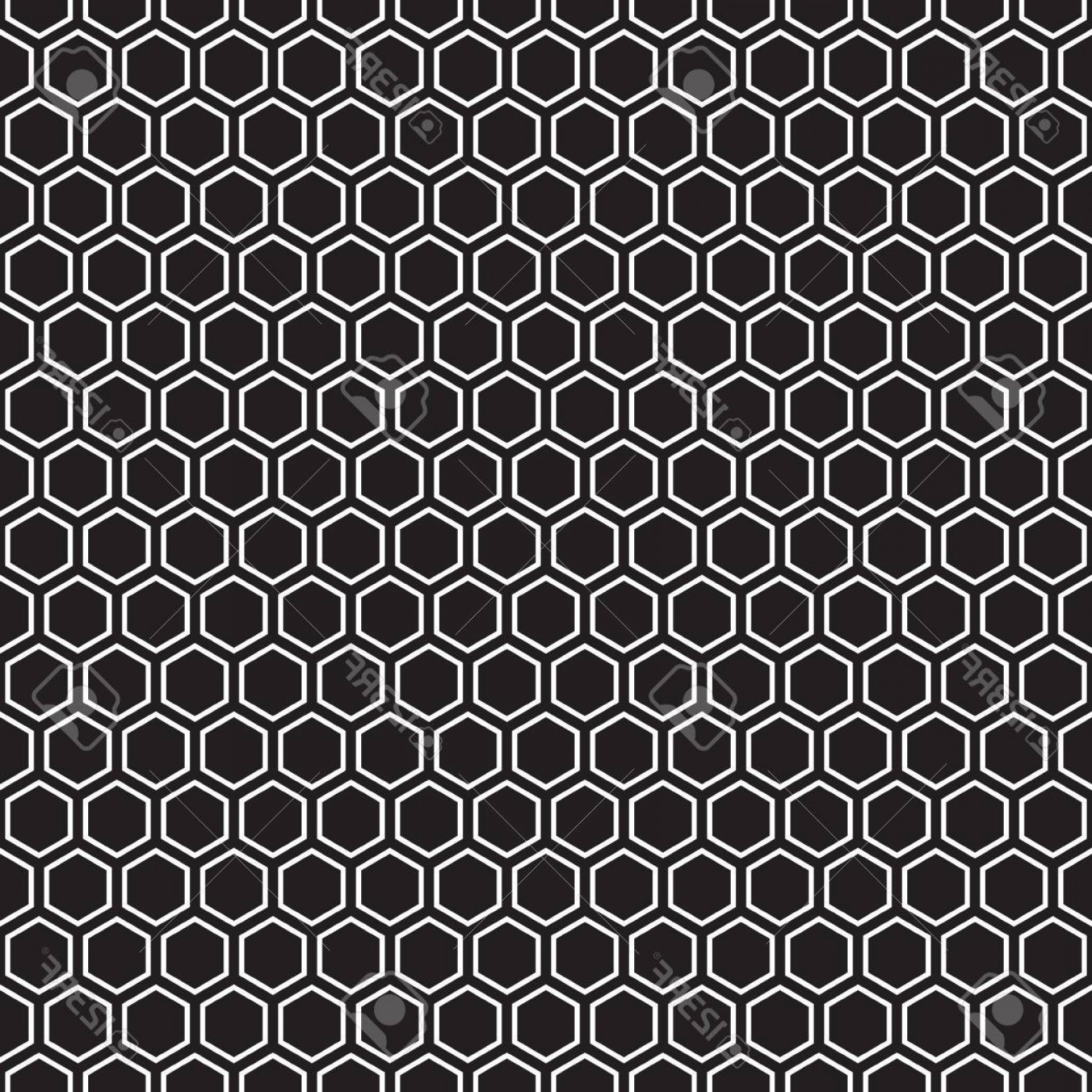 Hexagon Honeycomb Pattern Vector: Photostock Vector Seamless Hexagonal Honeycomb Pattern Texture Background Black Red And White Pattern