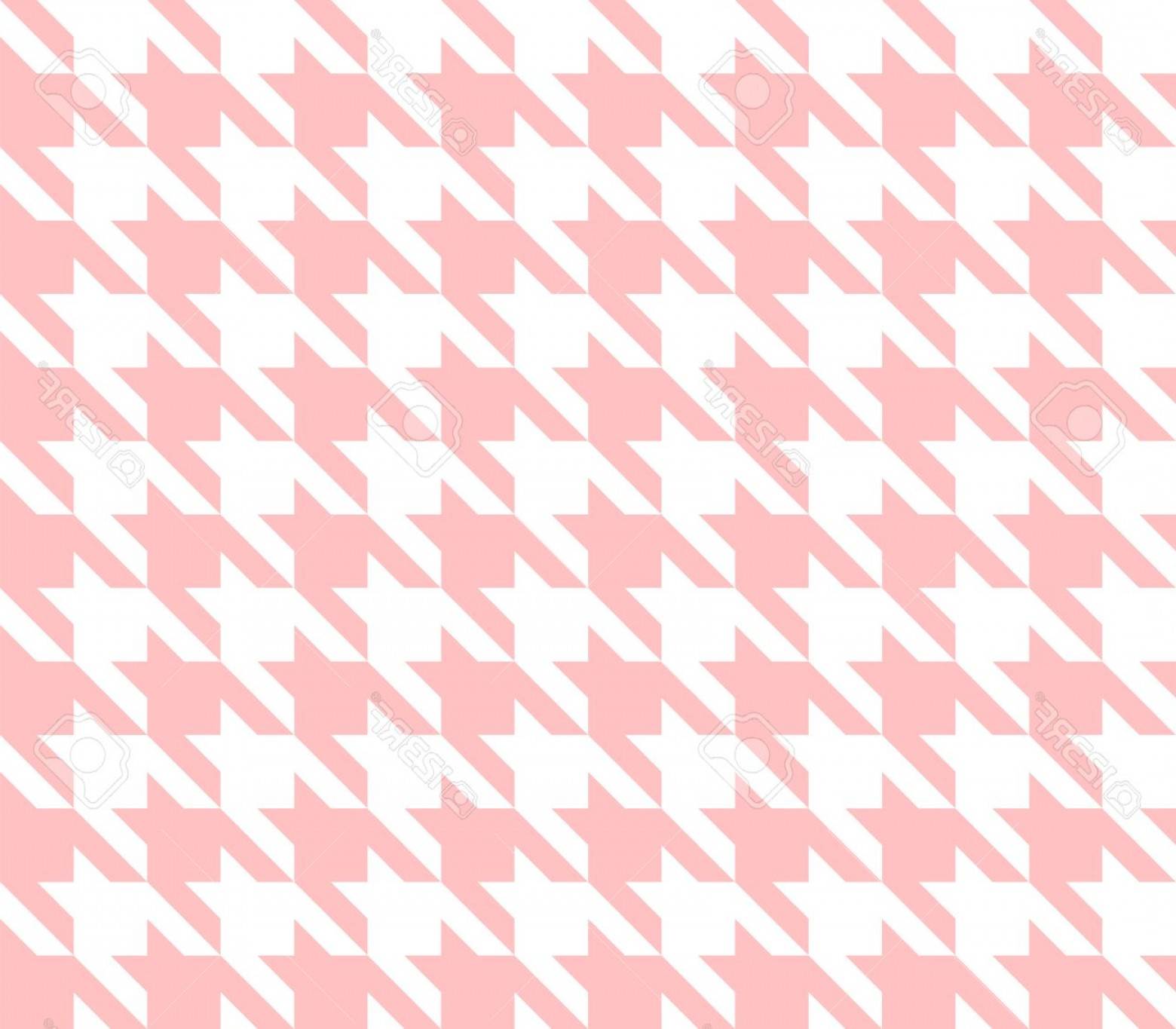 Pink And Black Houndstooth Vector: Photostock Vector Seamless Houndstooth Pattern Background With Pink And White Vector