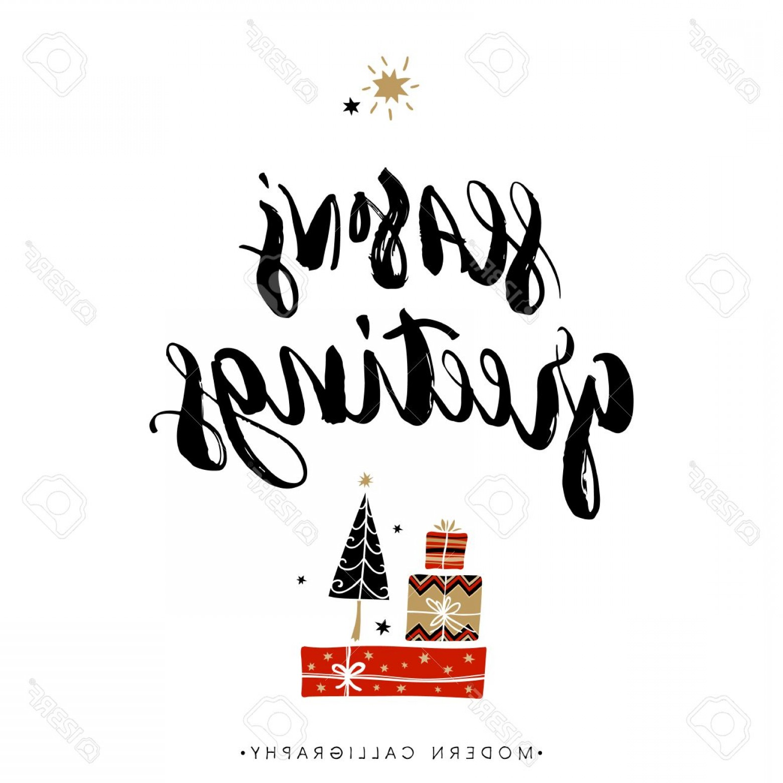 Season S Greetings Vector Free: Photostock Vector Season S Greetings Christmas Calligraphy Handwritten Modern Brush Lettering Hand Drawn Design Elemen