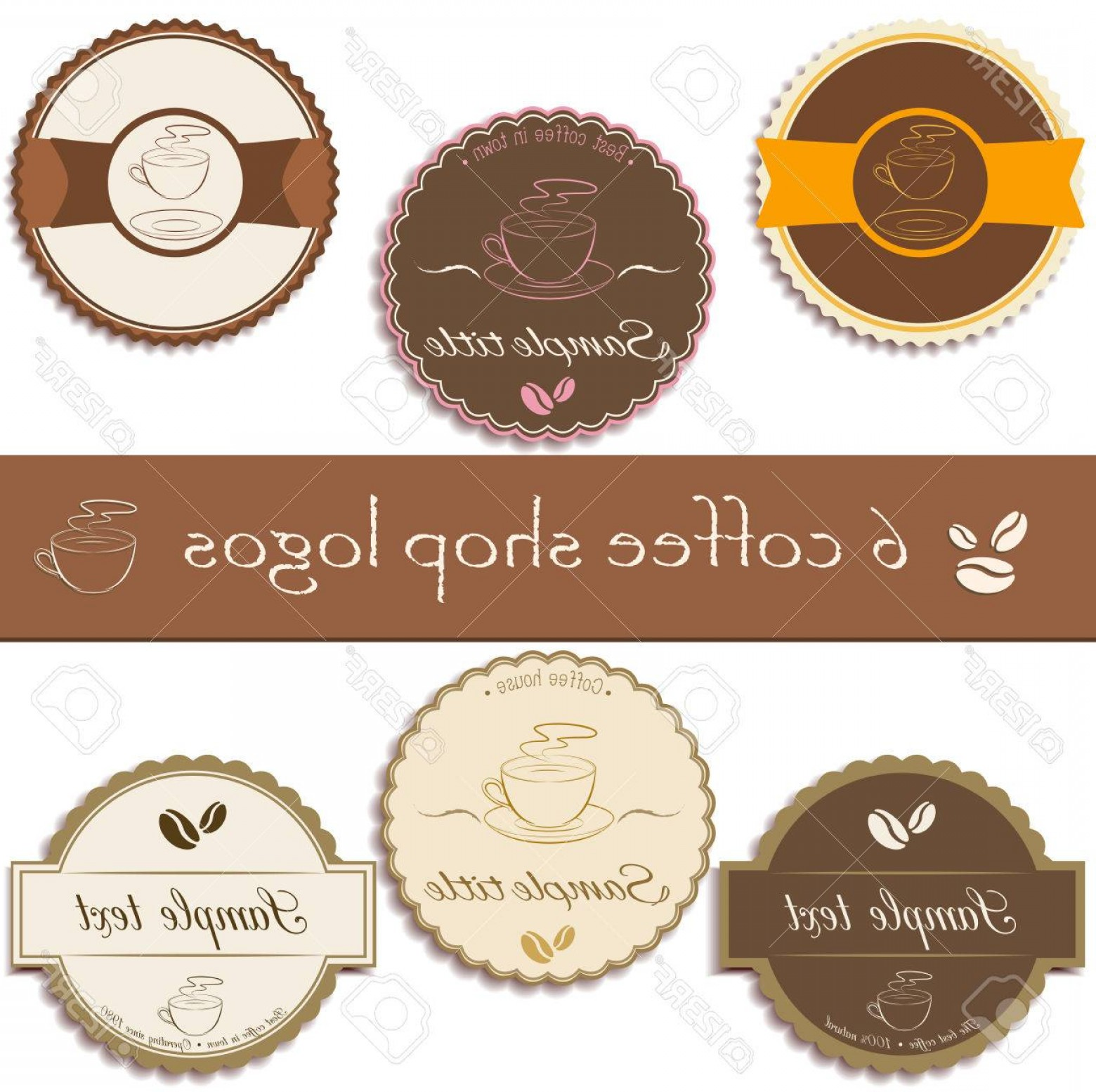 UPS Logo Vector: Photostock Vector Set Of Premium Coffee Shop Logos Badges Logos In Retro Style Business Identity Templates Mock Ups Ve