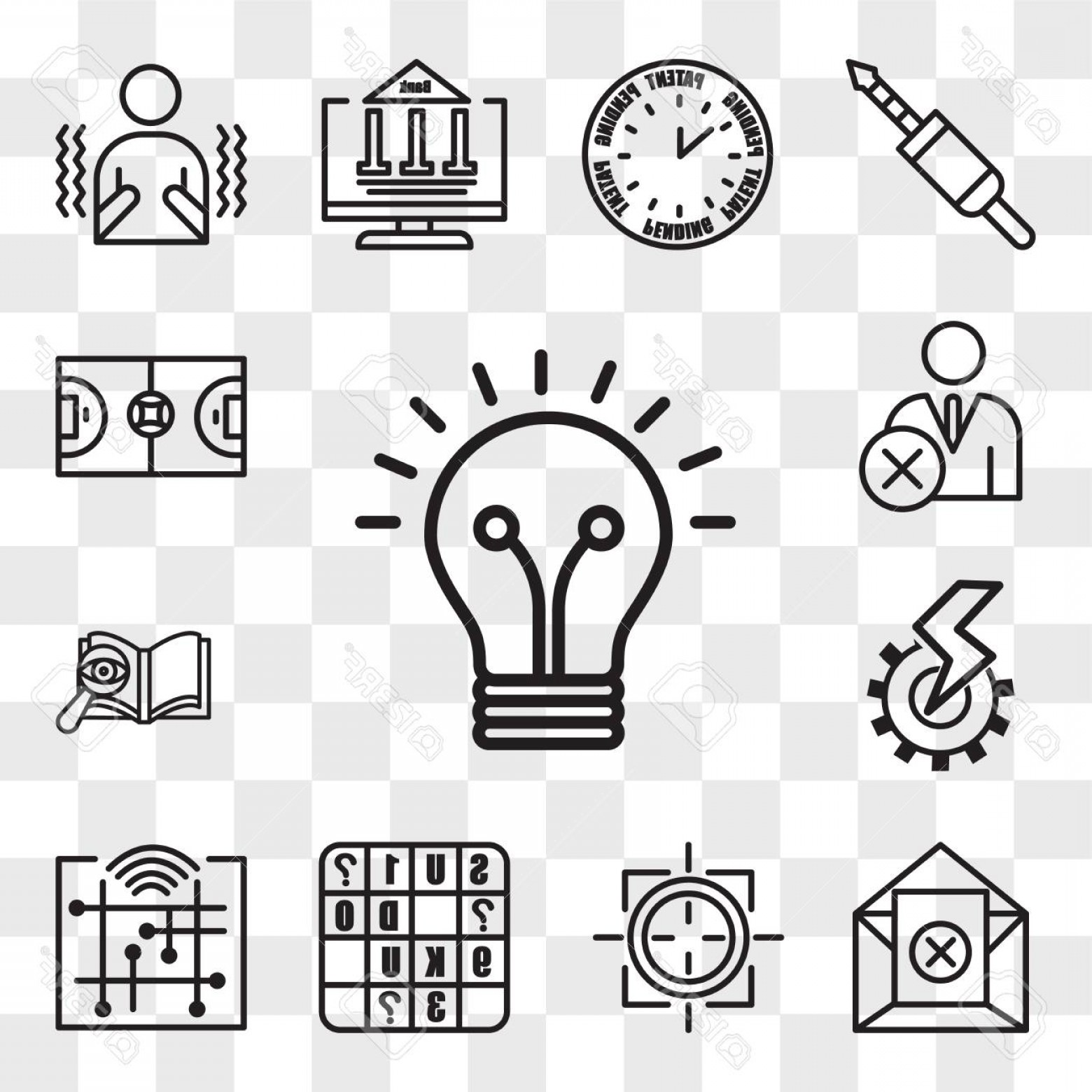 Smarter Vector Art: Photostock Vector Set Of Transparent Editable Icons Such As Smarter Digitalisation Sudoku Sniper Zoom Unsubscribe P