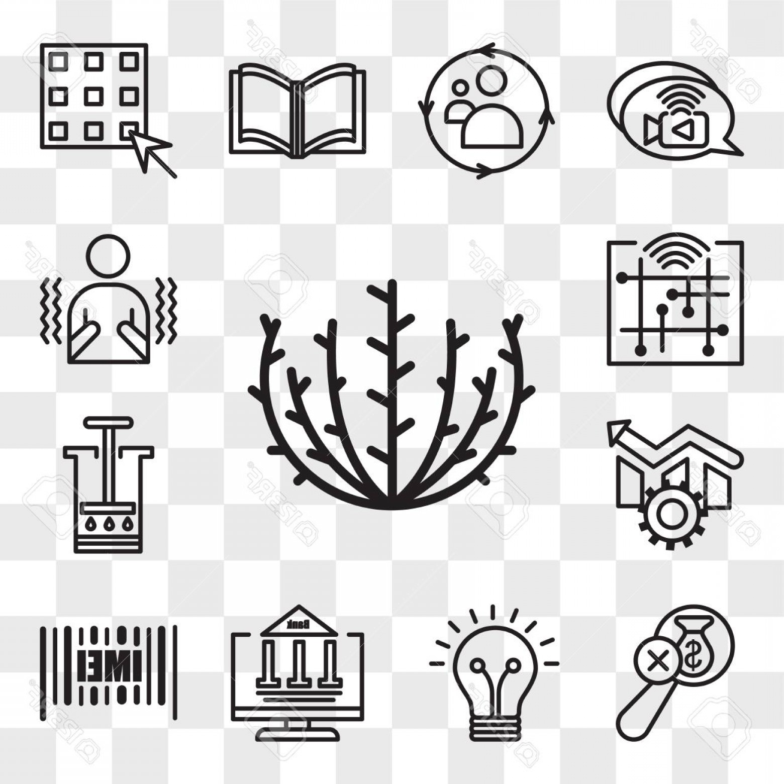 Smarter Vector Art: Photostock Vector Set Of Transparent Icons Such As Tumbleweed Imei Netbanking Smarter No Hidden Fees Aeropress Oper