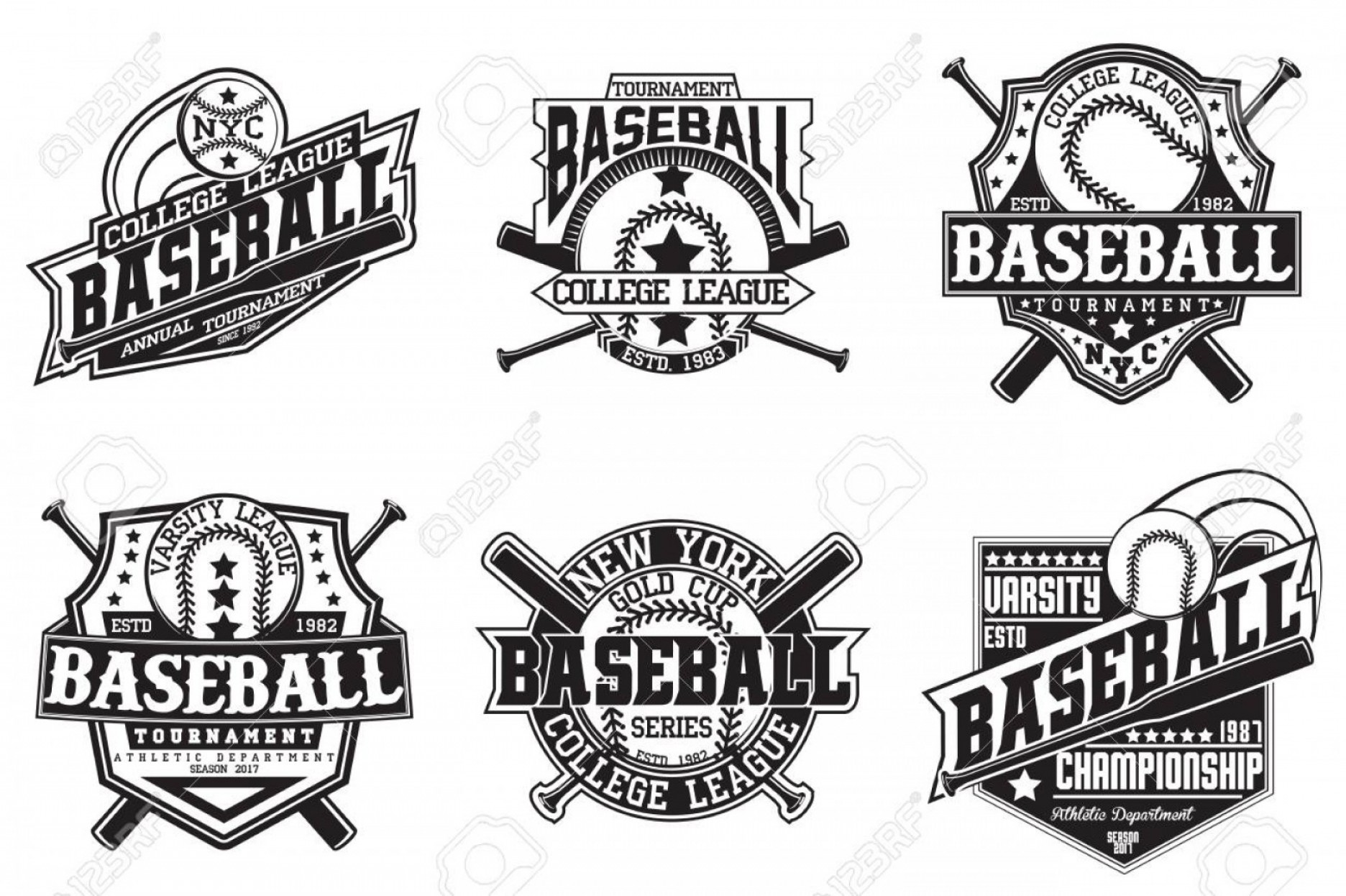 Vector Stamp Shirts: Photostock Vector Set Of Vintage T Shirt Graphic Designs Print Stamps Baseball Typography Emblems Sports Logos Creativ