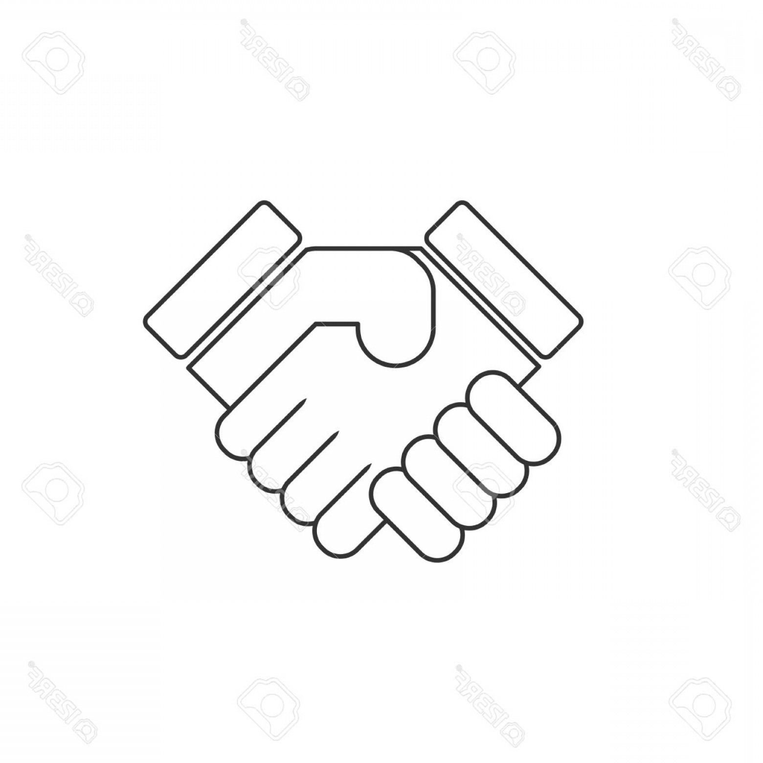 Handshake Vector Art: Photostock Vector Shake Hands Handshake Vector Icon