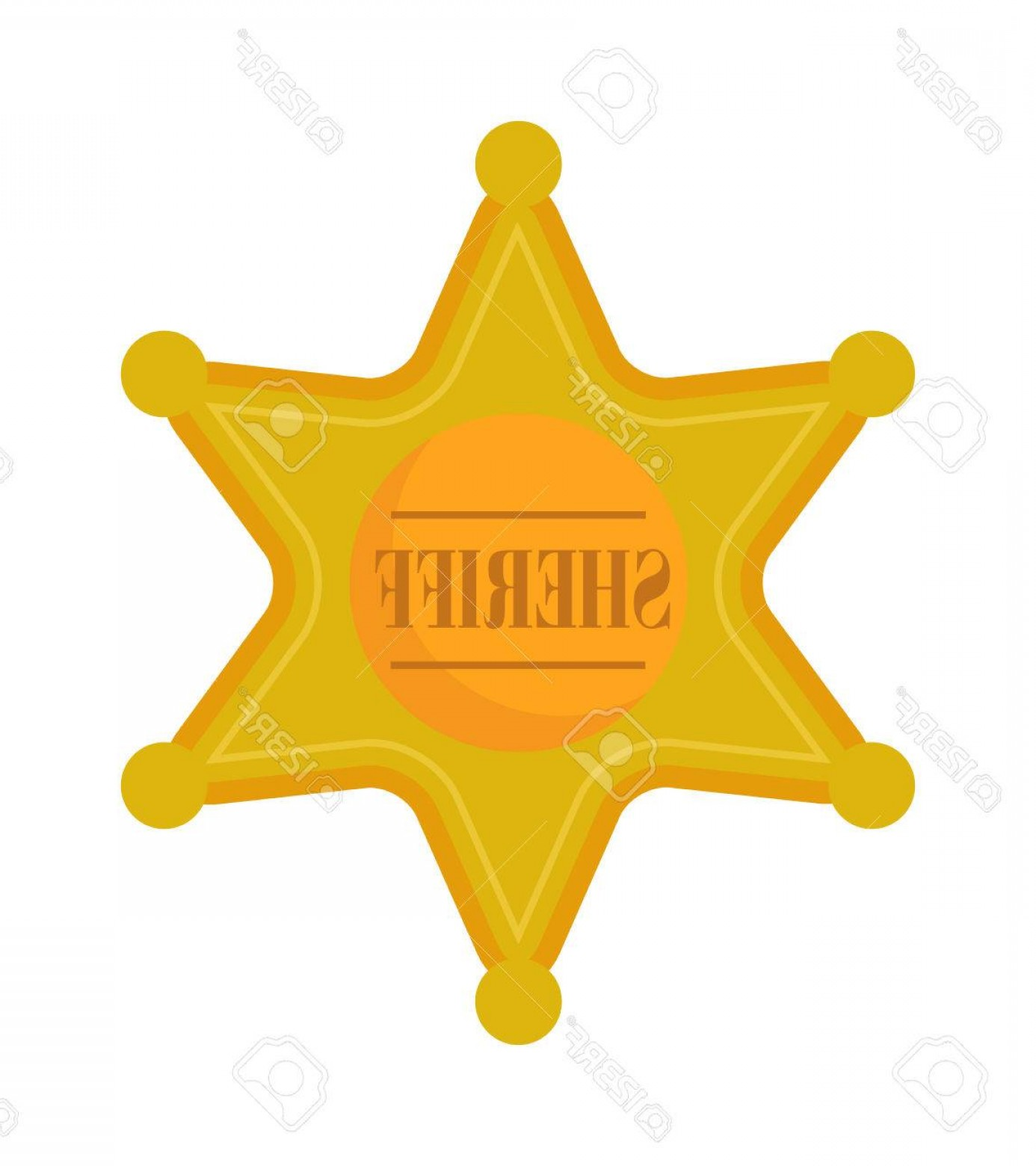 Star Badge Vector: Photostock Vector Sheriff Gold Star Badge And Justice Western Sheriff Star Old American Gold Retro Badge Vector Golden