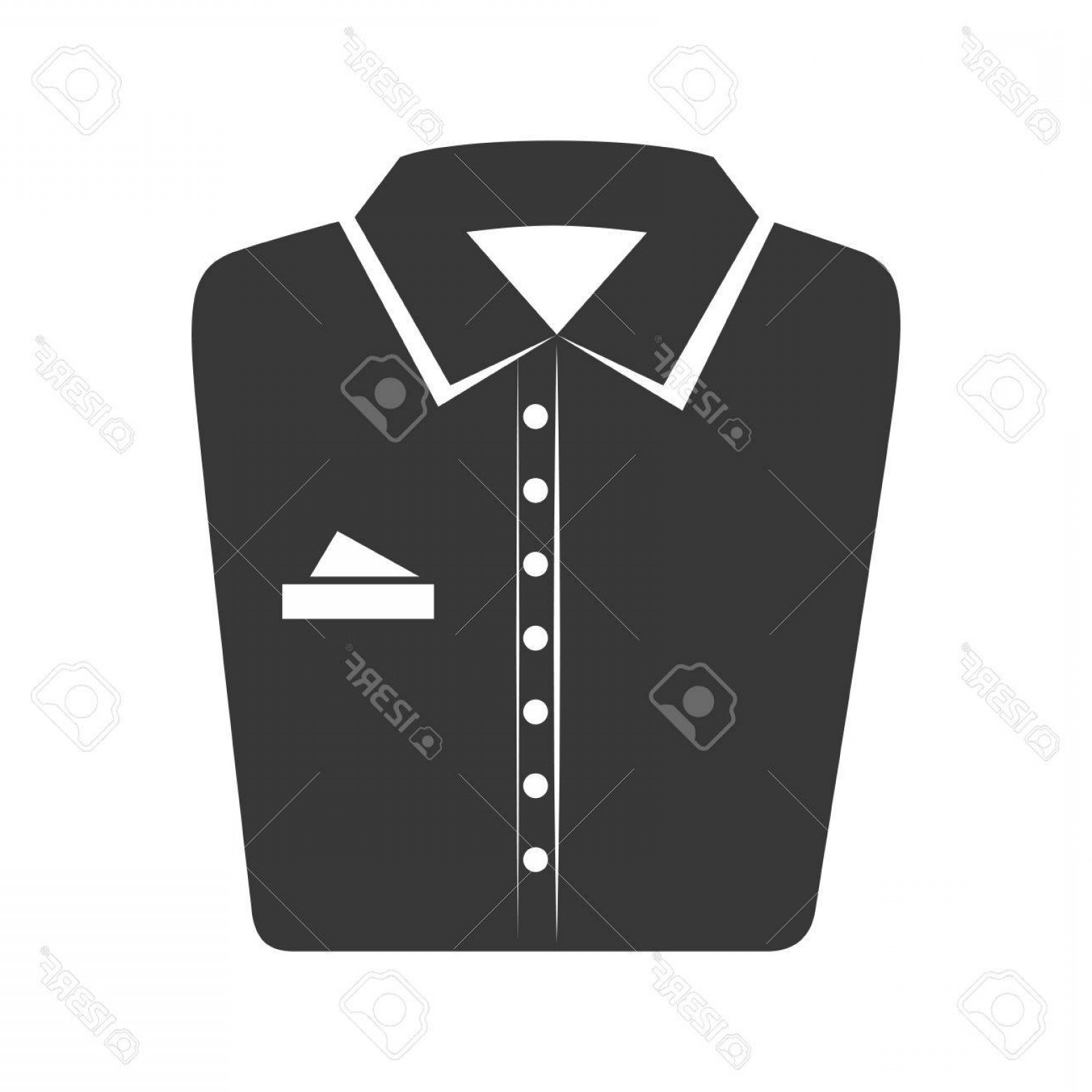 Vector Pocket Silhouette Shirt: Photostock Vector Shirt Folded Elegant Clothes Laundry Clothing Silhouette Vector Illustration