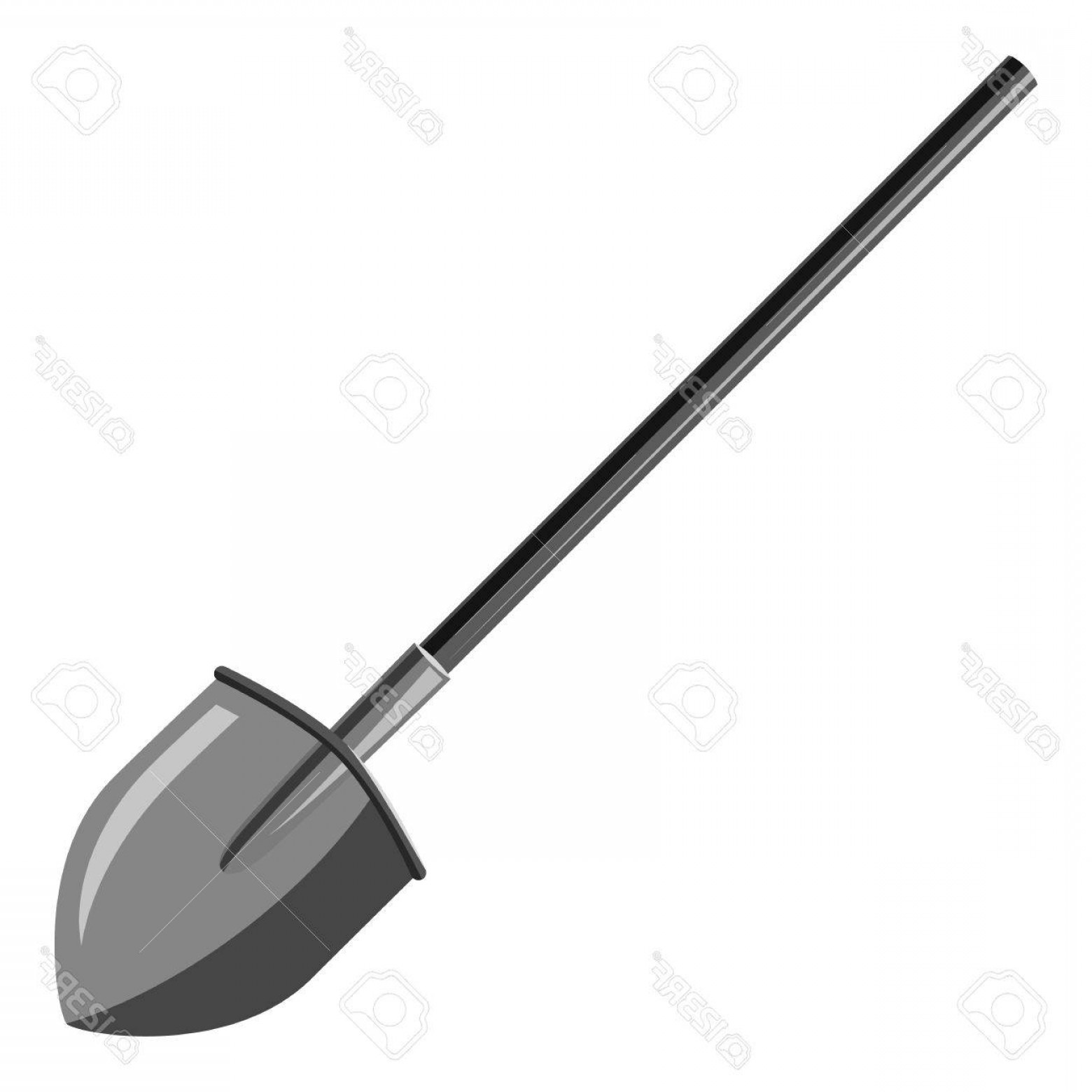 Shovel Vector: Photostock Vector Shovel Icon Gray Monochrome Illustration Of Shovel Vector Icon For Web