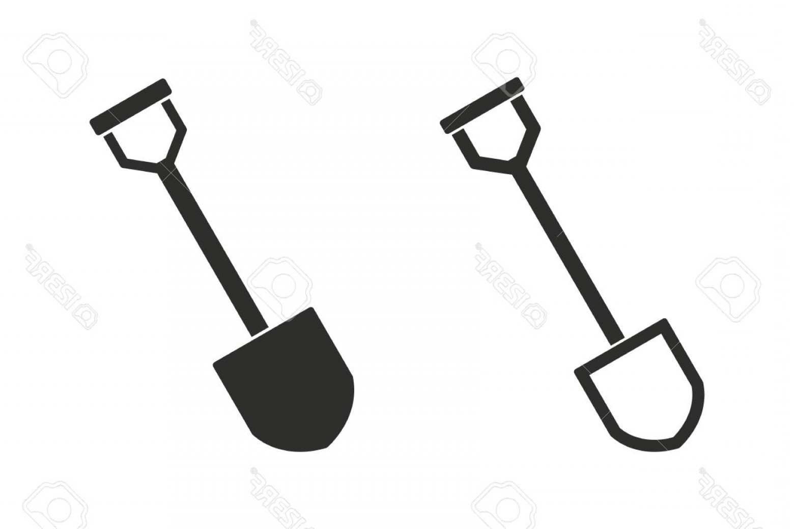 Shovel Vector: Photostock Vector Shovel Vector Icon Illustration Isolated On White Background For Graphic And Web Design