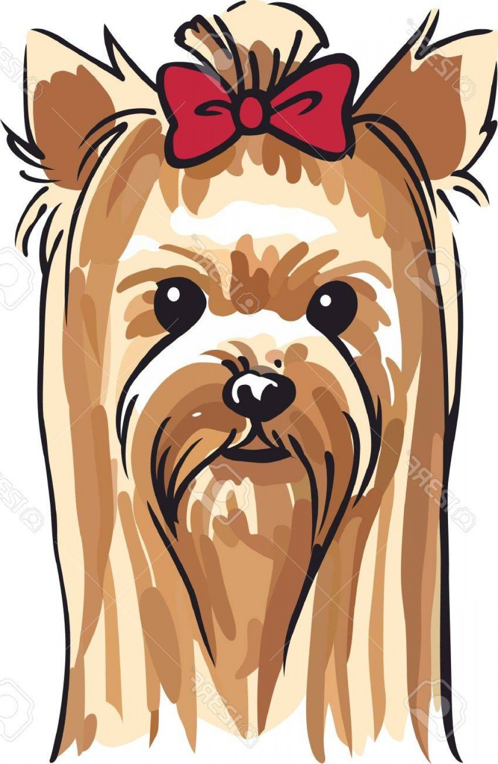 Cute Yorkie Dog Vector: Photostock Vector Show Your Love For Your Dog With A Cute Yorkie Design