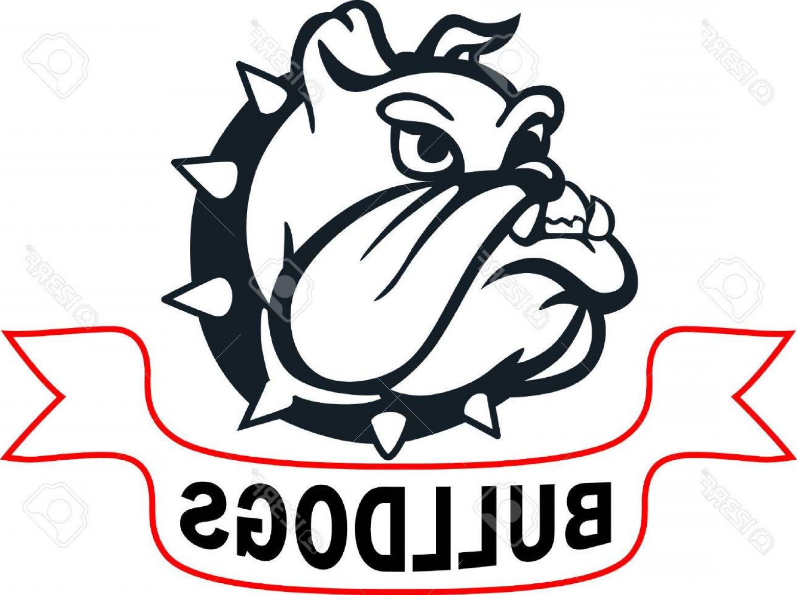 Marine Bulldog Logo In Vector: Photostock Vector Show Your Team Spirit With This Bulldog Logo Everyone Will Love It