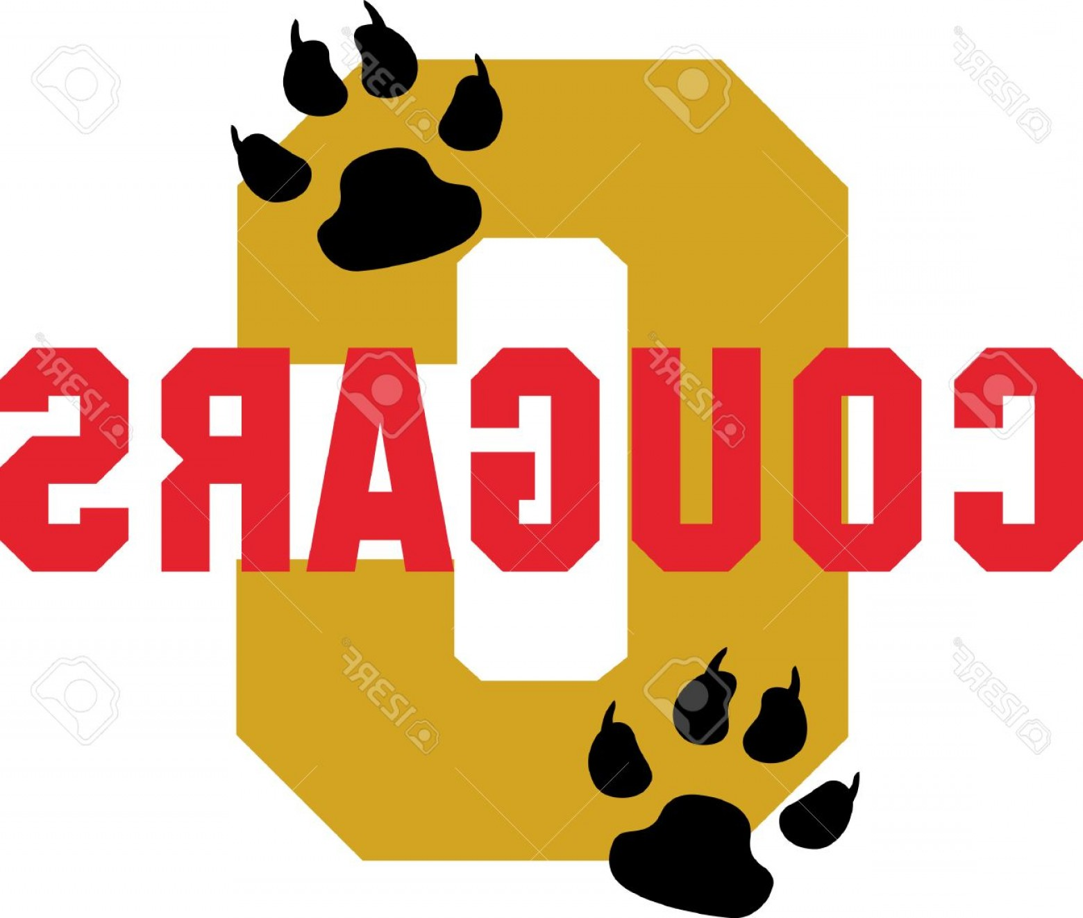 Cougar Logo Vector: Photostock Vector Show Your Team Spirit With This Cougars Logo Everyone Will Love It