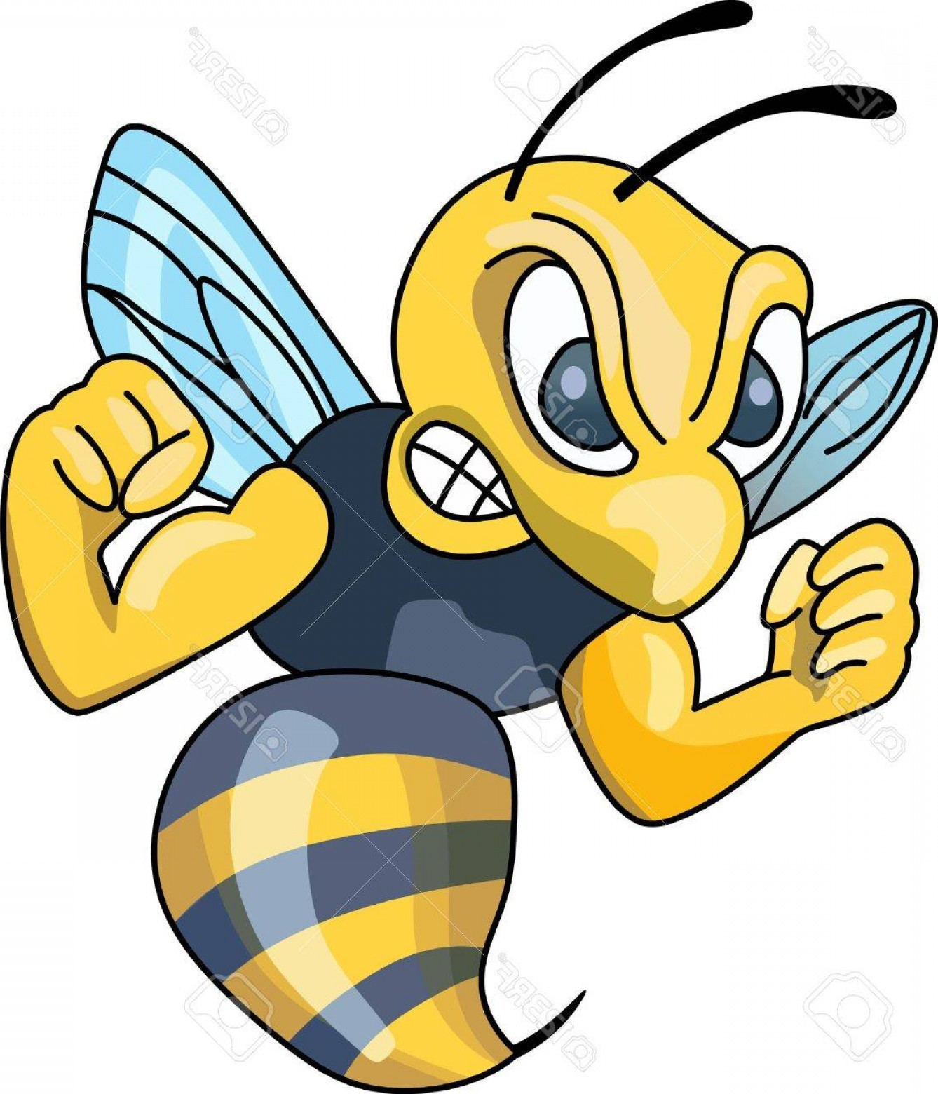Yellow Jacket Vector Art: Photostock Vector Show Your Team Spirit With This Yellow Jacket Logo Everyone Will Love It