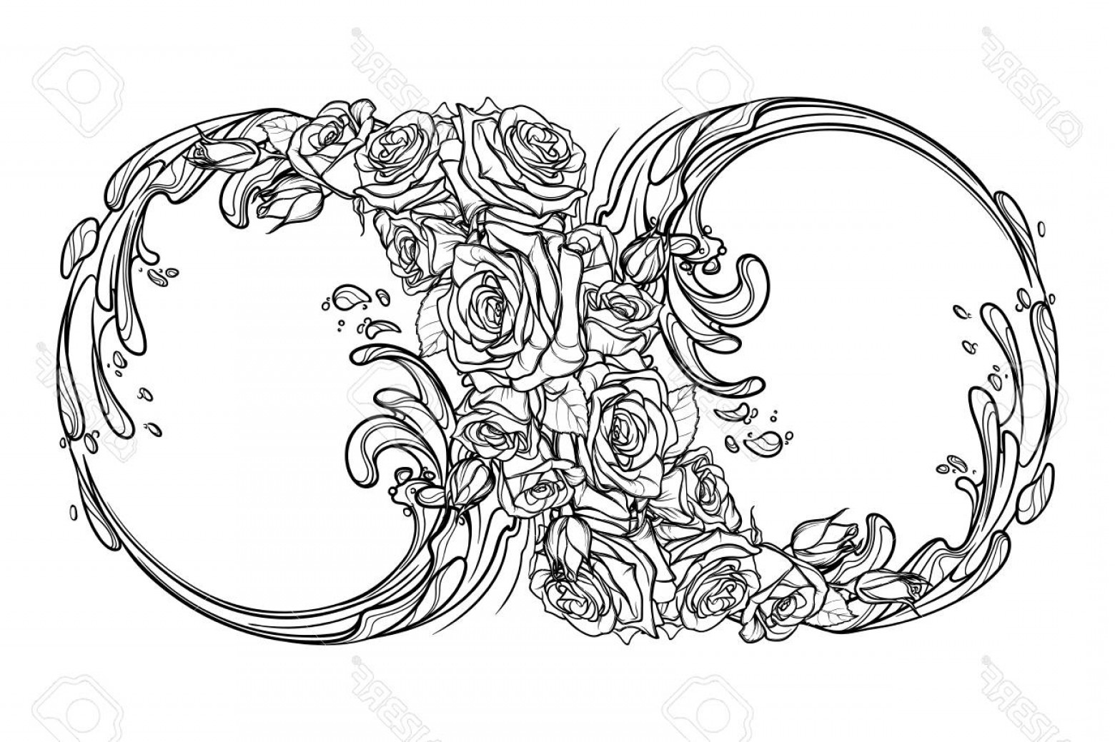Decorative Infinity Symbol Vector: Photostock Vector Sign Of The Eternity Or Infinity Artistic Decorative Interpretation Of The Mathematical Symbol With