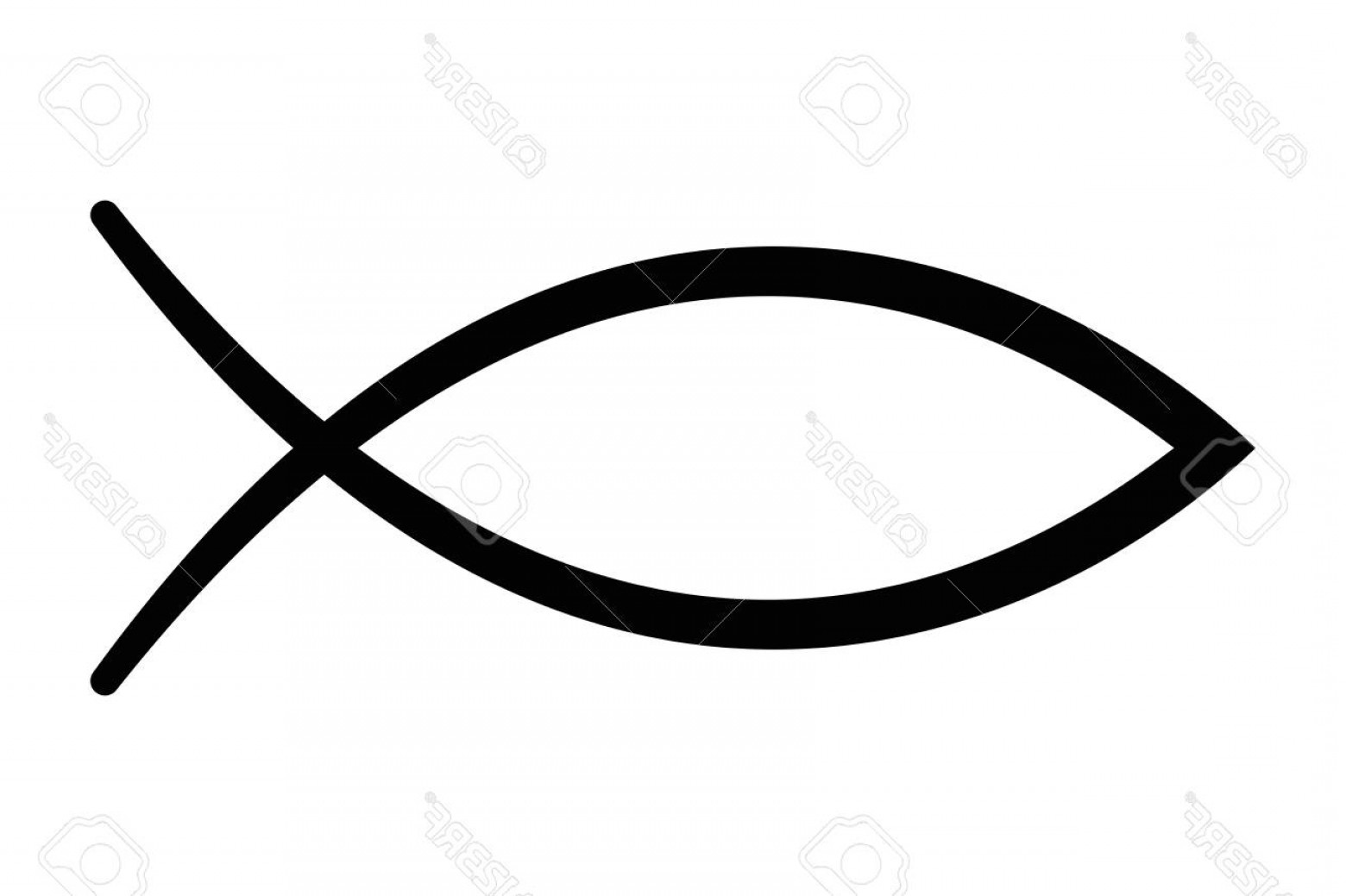 Christ Fish Vector: Photostock Vector Sign Of The Fish A Symbol Of Christian Art Also Known As Jesus Fish Symbol Consisting Of Two Interse