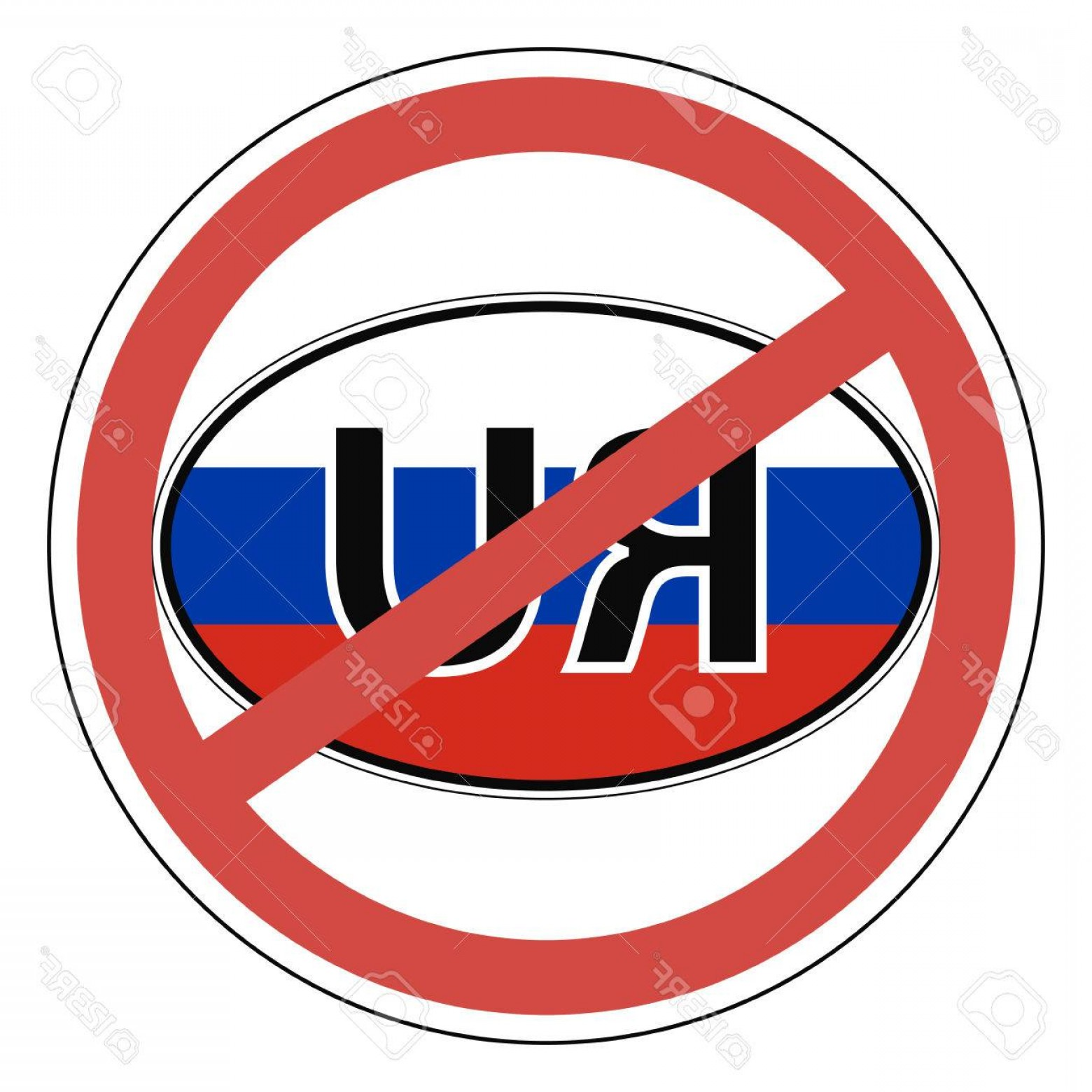 320 Vector: Photostock Vector Sign Russia The Russians Banned Entrance Is Prohibited Vector For Print Or Website Design