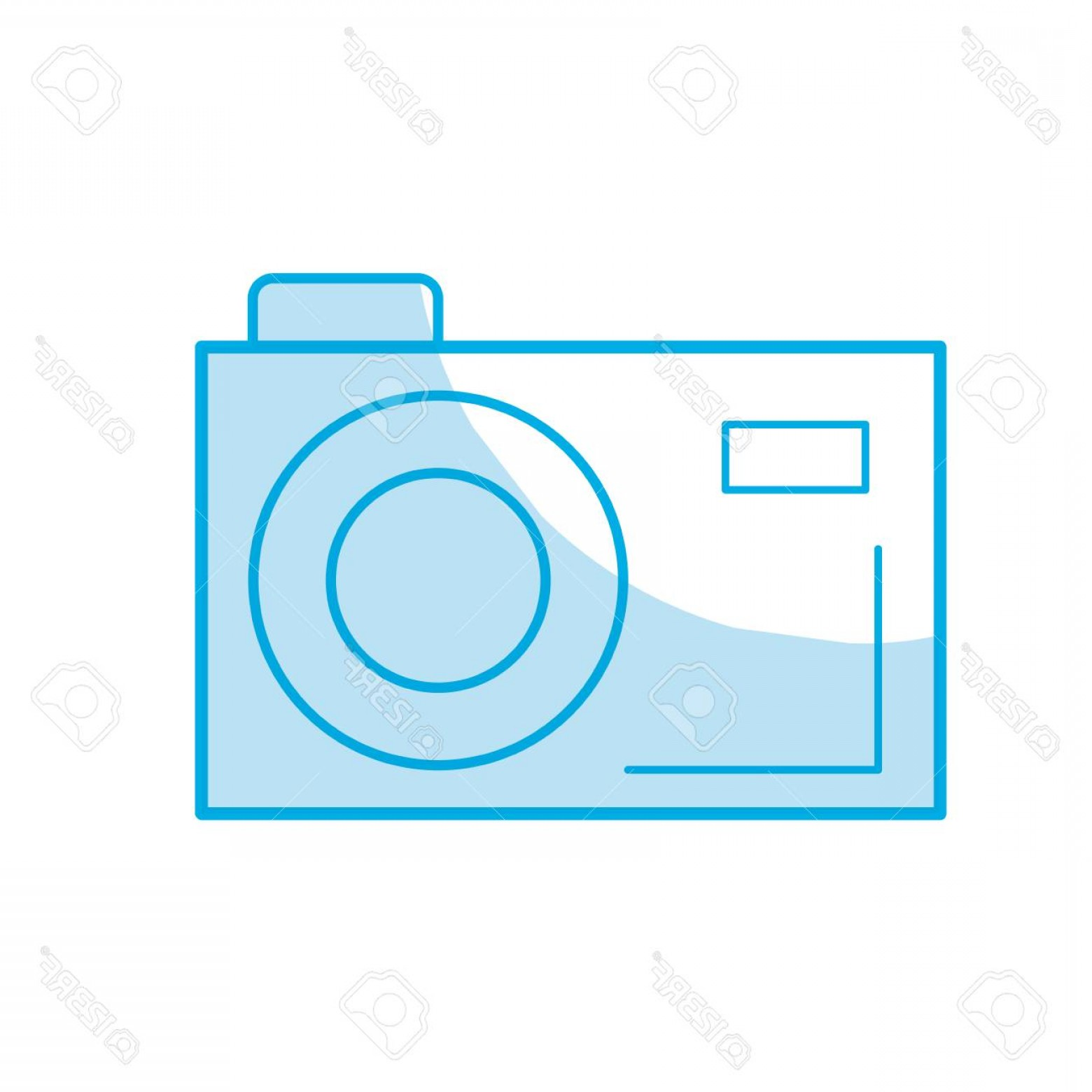 Digital Vector Silhouette: Photostock Vector Silhouette Digital Camera To Capture The Nice Moments