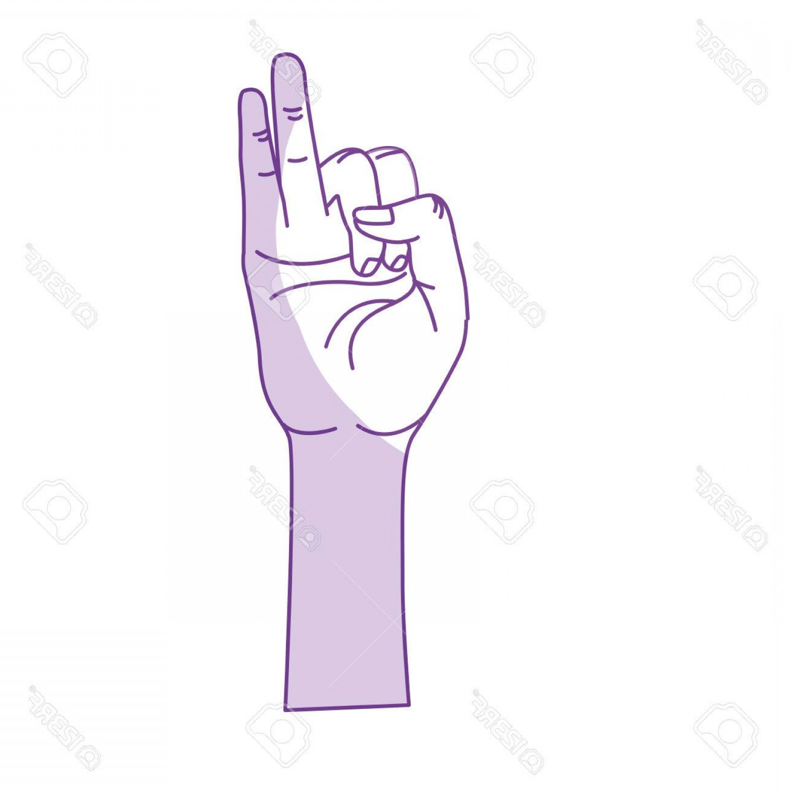 Hand With Ring Silhouette Vector: Photostock Vector Silhouette Hand With Pinky And Ring Finger Up Symbol