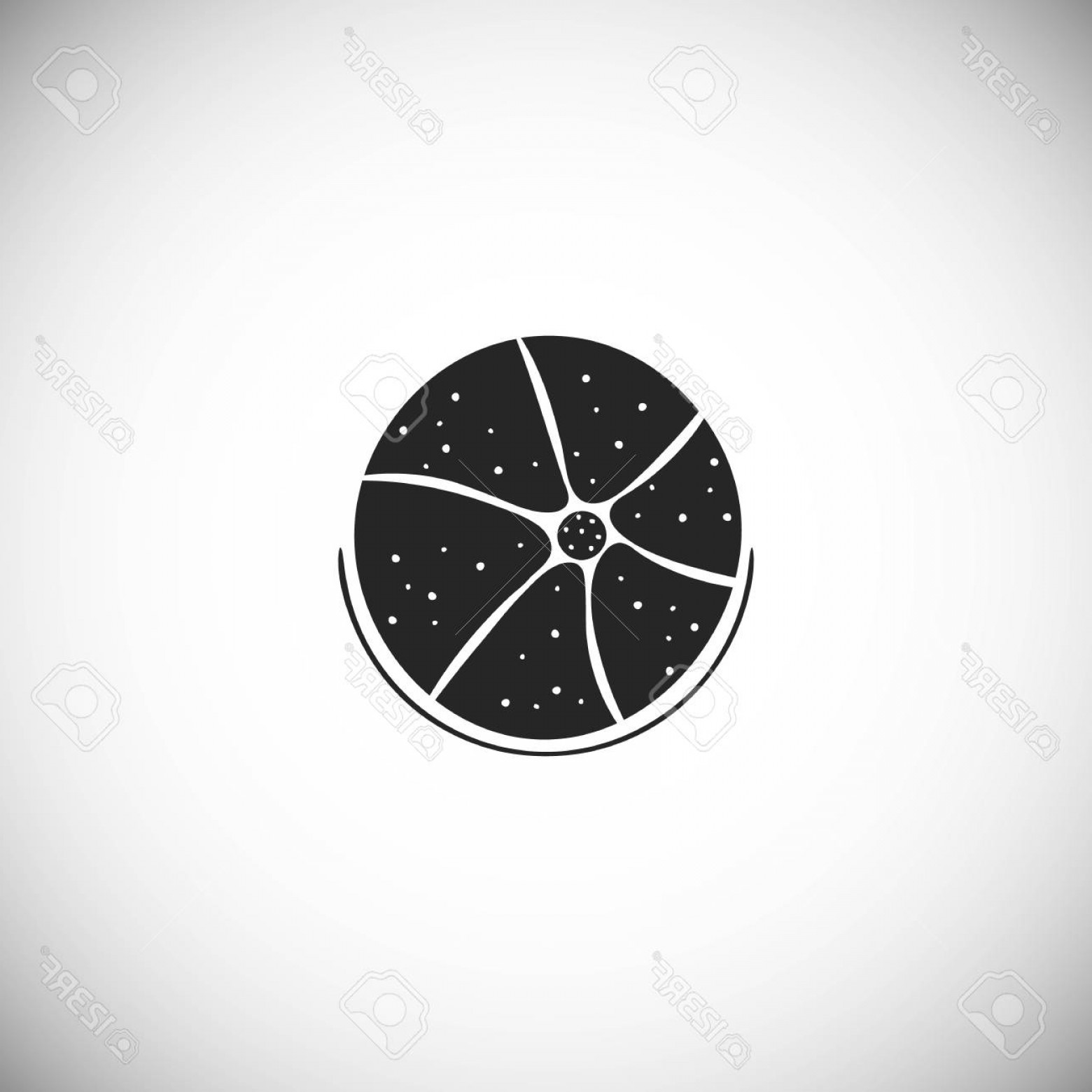 Sand Dollar Silhouette Vector: Photostock Vector Silhouette Icon Of Beach Ball Hand Drawn Style Element For The Summer Card Vector