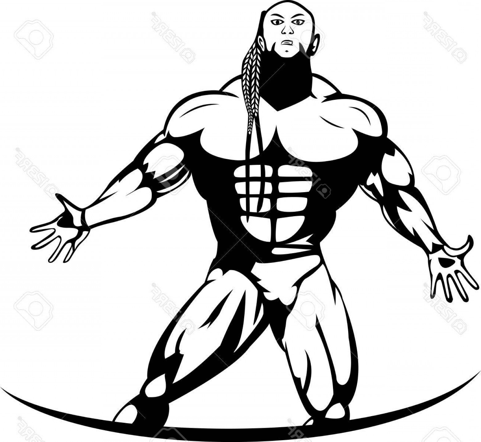 Vector Abstract Woman Bodybuilder Physique: Photostock Vector Silhouette Of A Bodybuilder