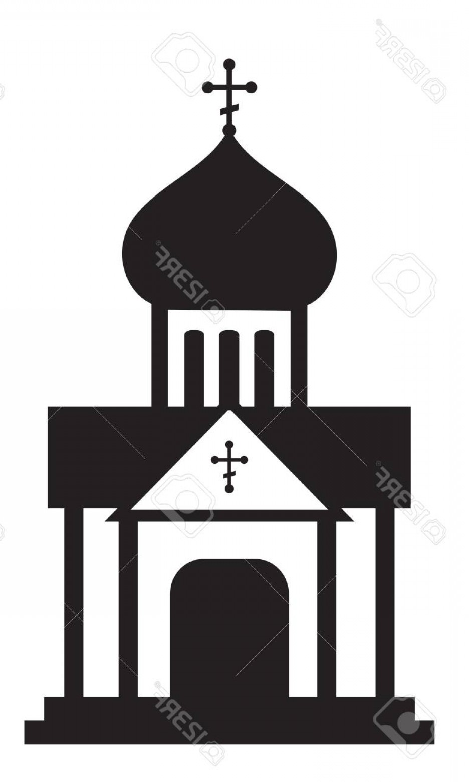 Church Silhouette Vector: Photostock Vector Silhouette Of Orthodox Domes Christian Church Temple Infographic Icon Vector Clip Art