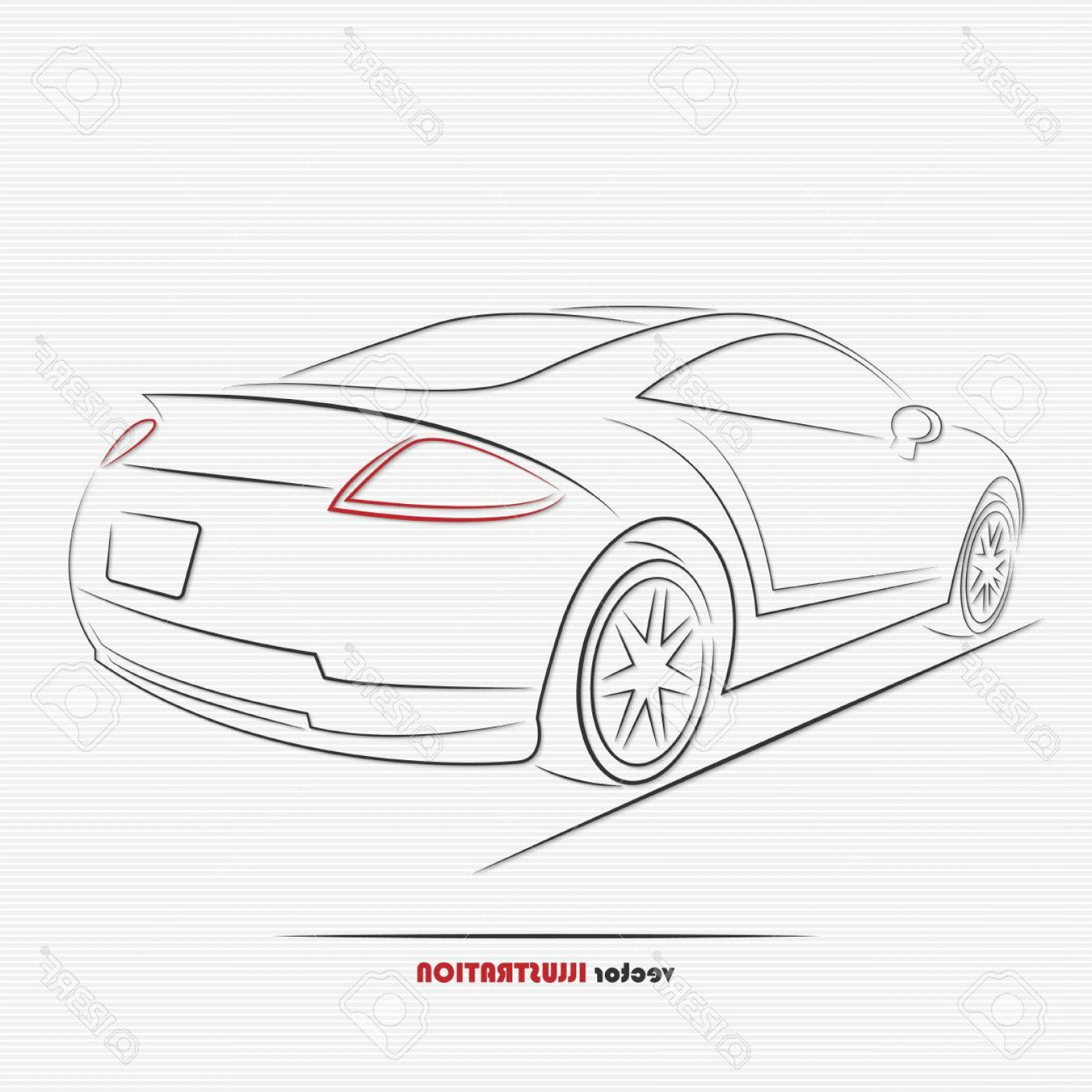 Mitsubishi Eclipse Vector: Photostock Vector Silhouette Of Sport Car For Your Design