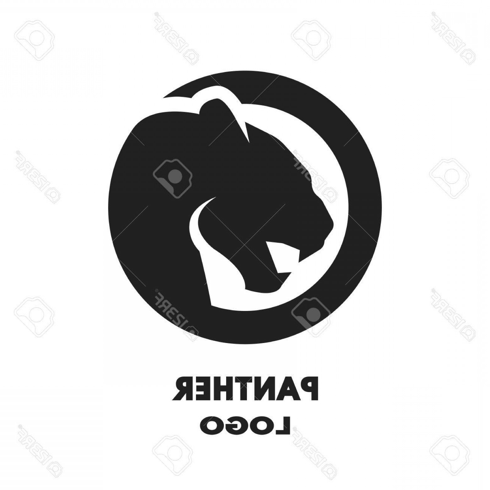 Panther Vector: Photostock Vector Silhouette Of The Panther Monochrome Vector Illustration