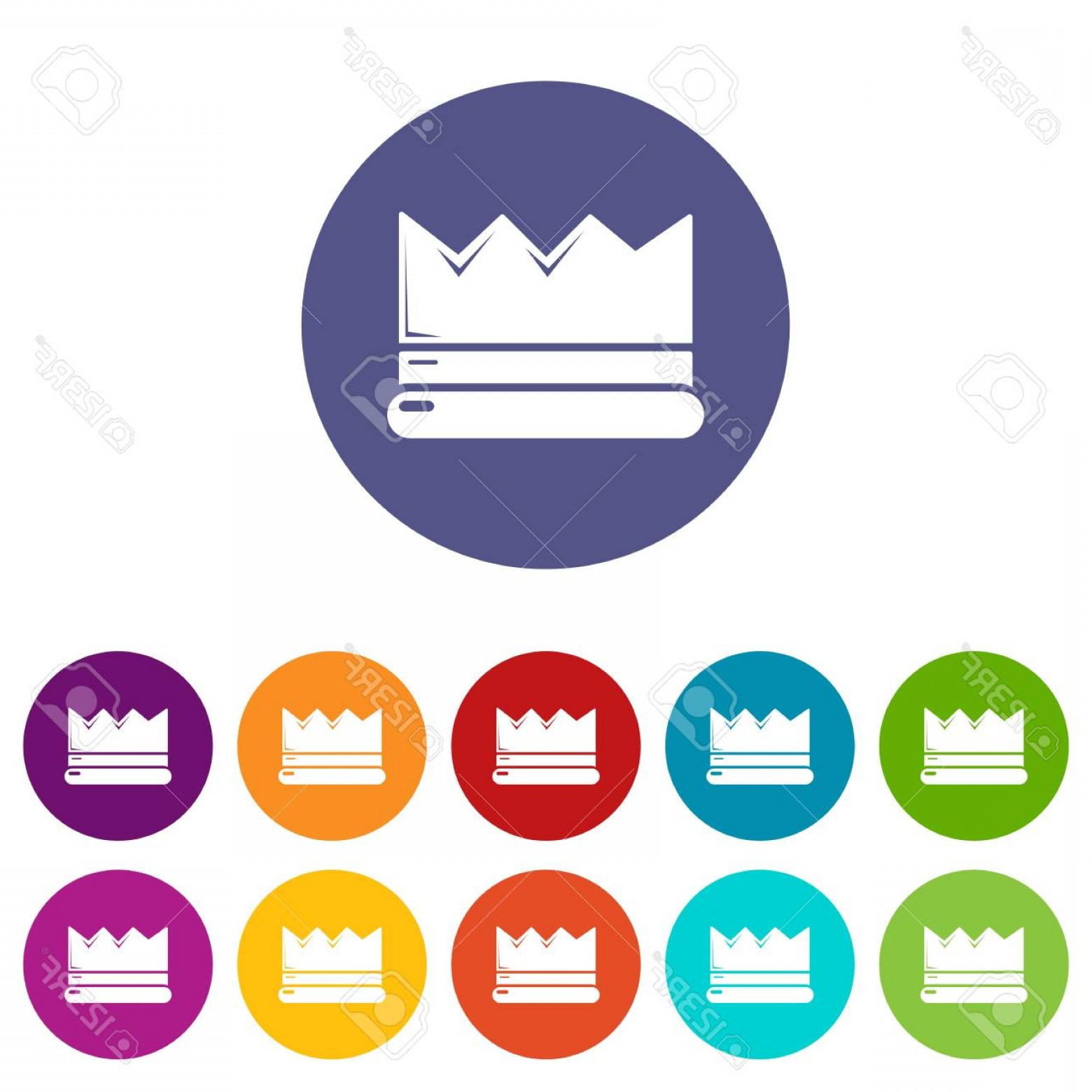 Silver Prince Vector: Photostock Vector Silver Crown Icons Color Set Vector For Any Web Design On White Background