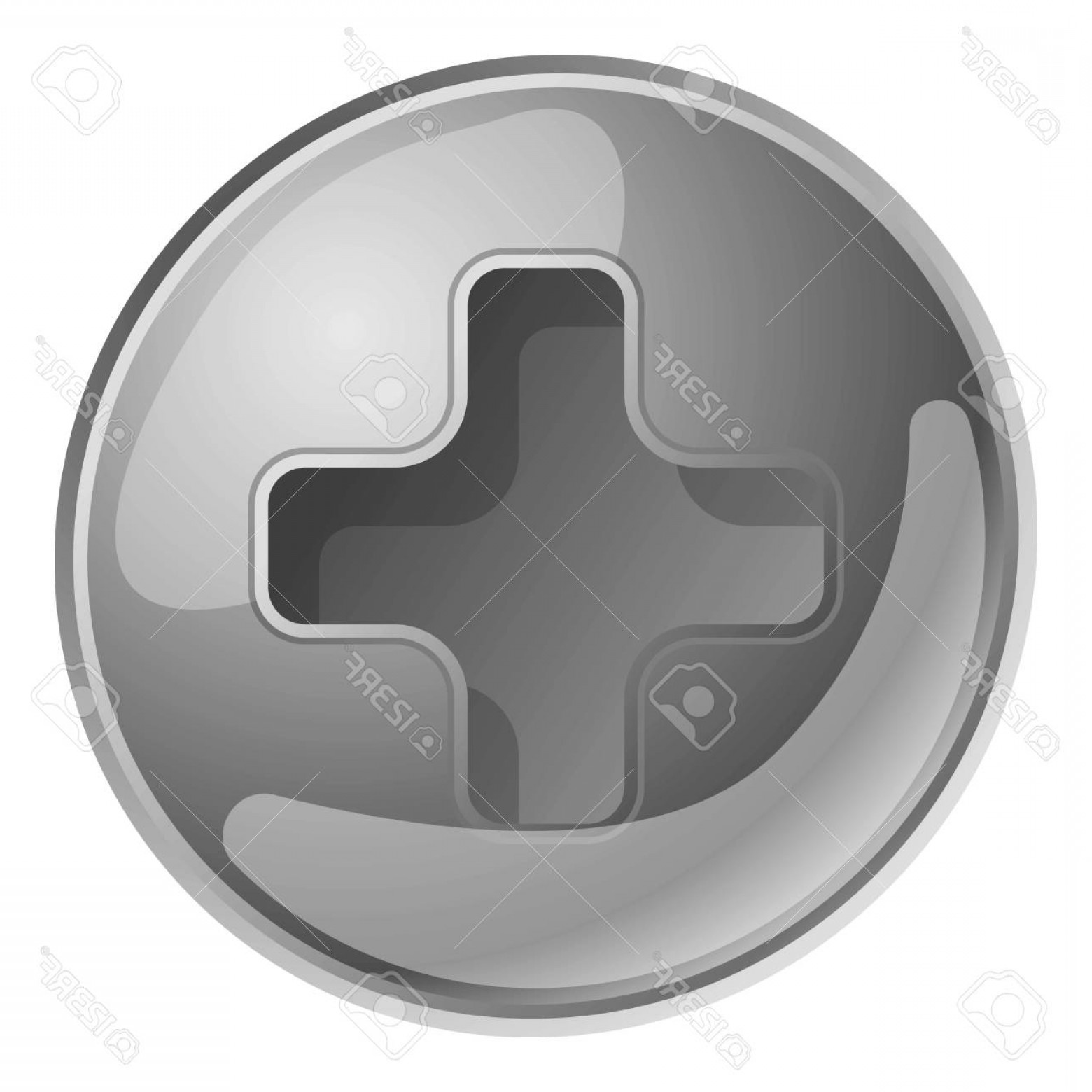 Bolt Head Vectors Gray: Photostock Vector Silver Screw Head Icon Cartoon Of Silver Screw Head Vector Icon For Web Design Isolated On White Bac