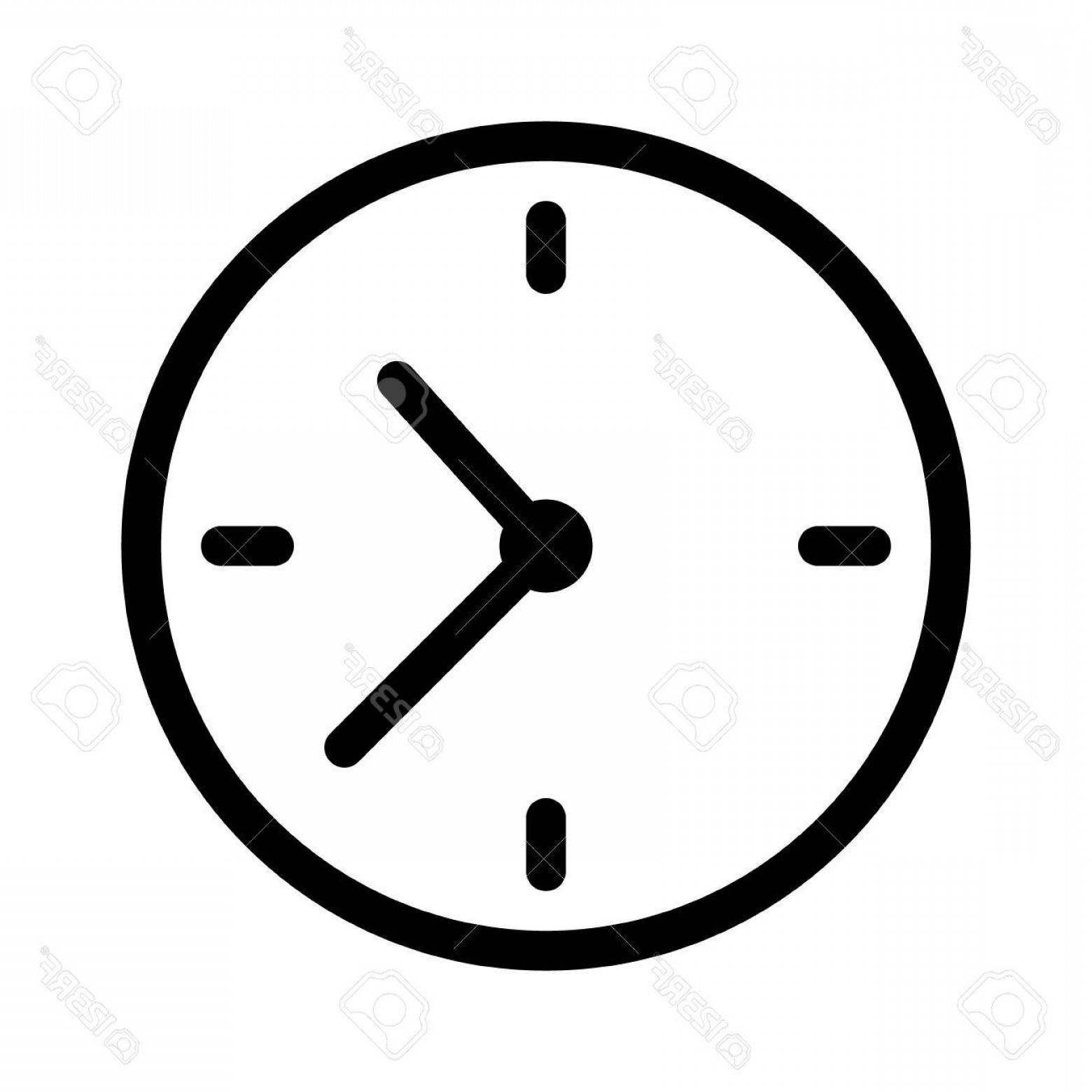 Watch Face Vector: Photostock Vector Simple Clock Face Clockface Or Watch Face With Hands Line Art Icon For Apps And Websites