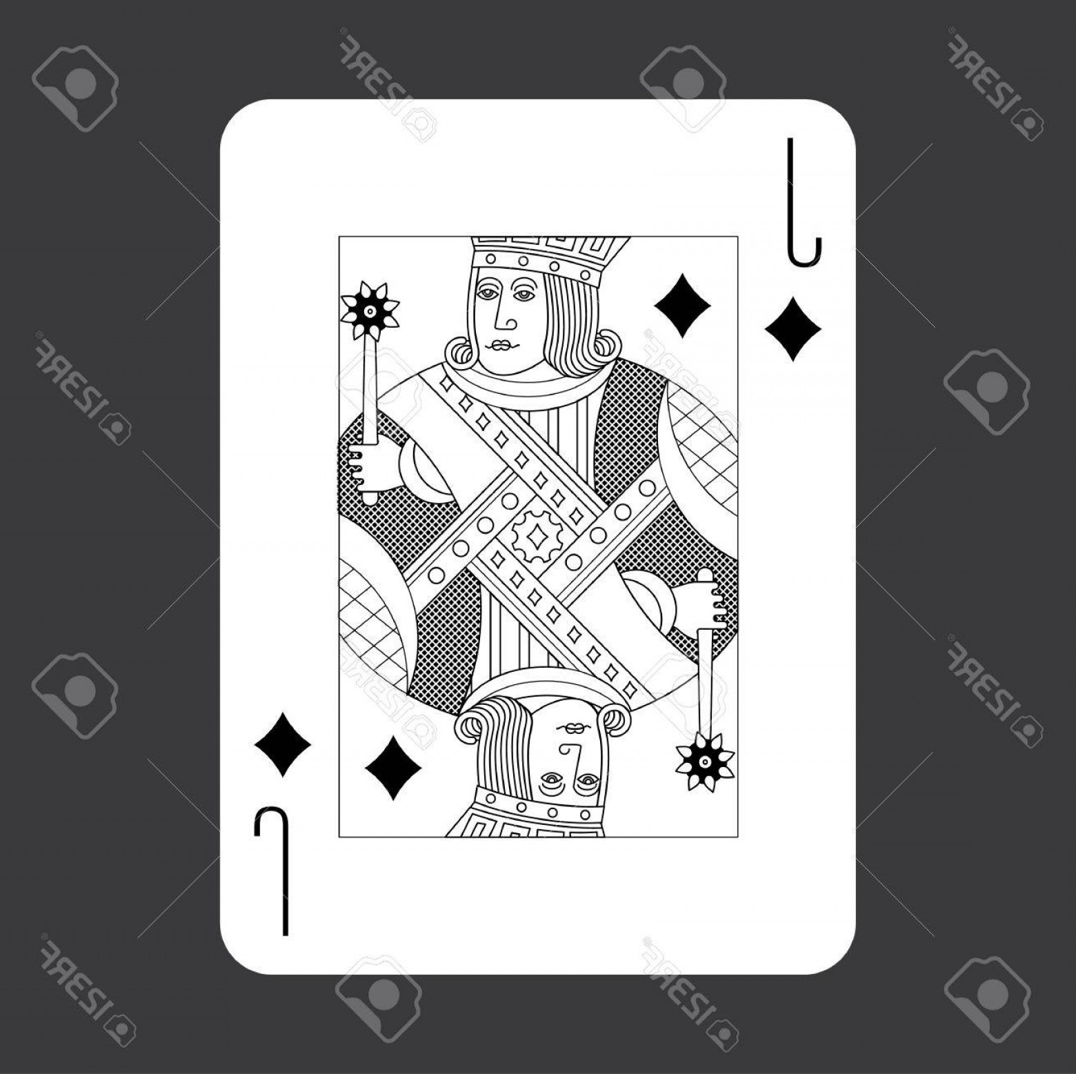Single Playing Card Vector: Photostock Vector Single Playing Cards Vector Jack Diamonds