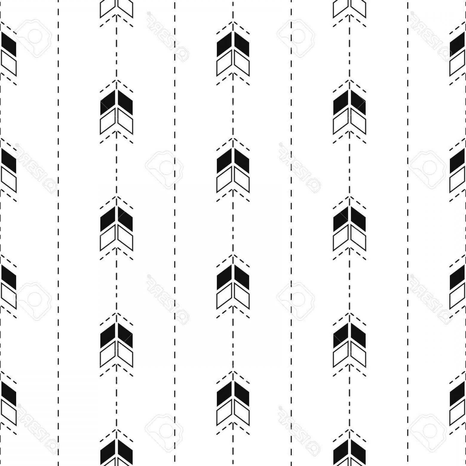 Small Arrow Vector: Photostock Vector Small Arrow Line Seamless Pattern Tiny Thin Arrows In Dashed Line Rows Tileable White Background