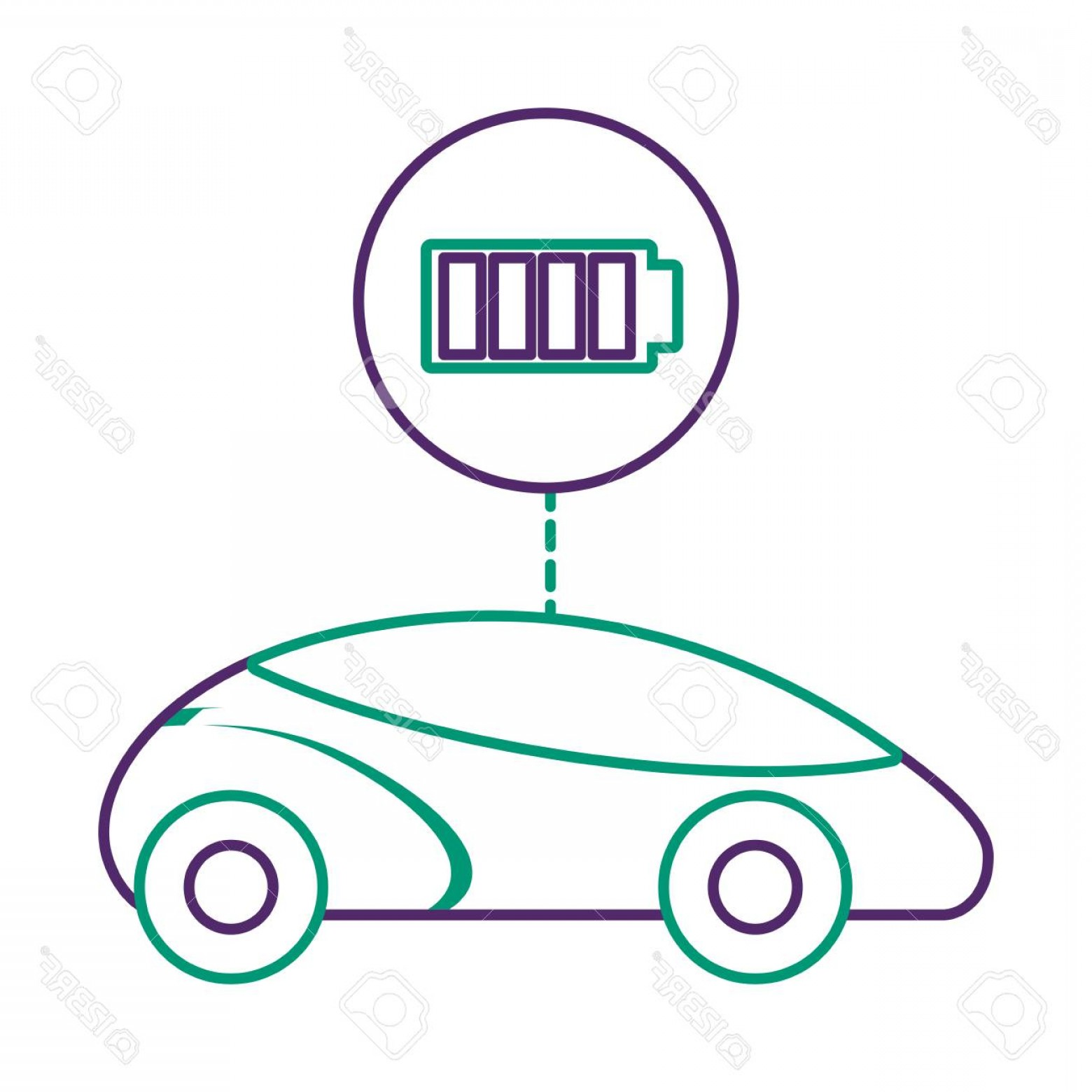 Vector Smart Charger: Photostock Vector Smart Or Intelligent Car Battery Charger Technology Vector Illustration