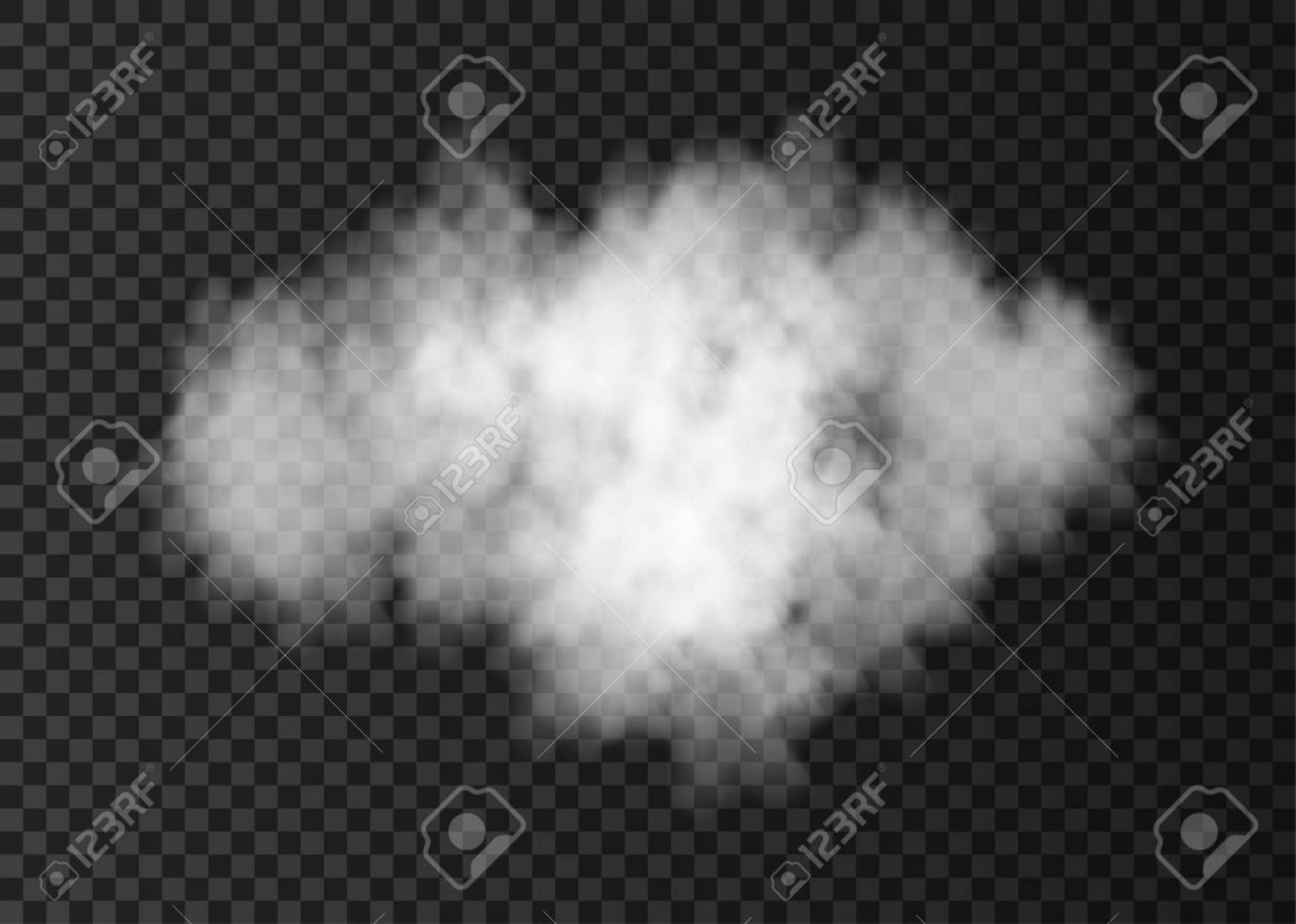 Vector Smoke Effect: Photostock Vector Smoke Cloud Isolated On Transparent Background Steam Explosion Special Effect Realistic Vector Fire