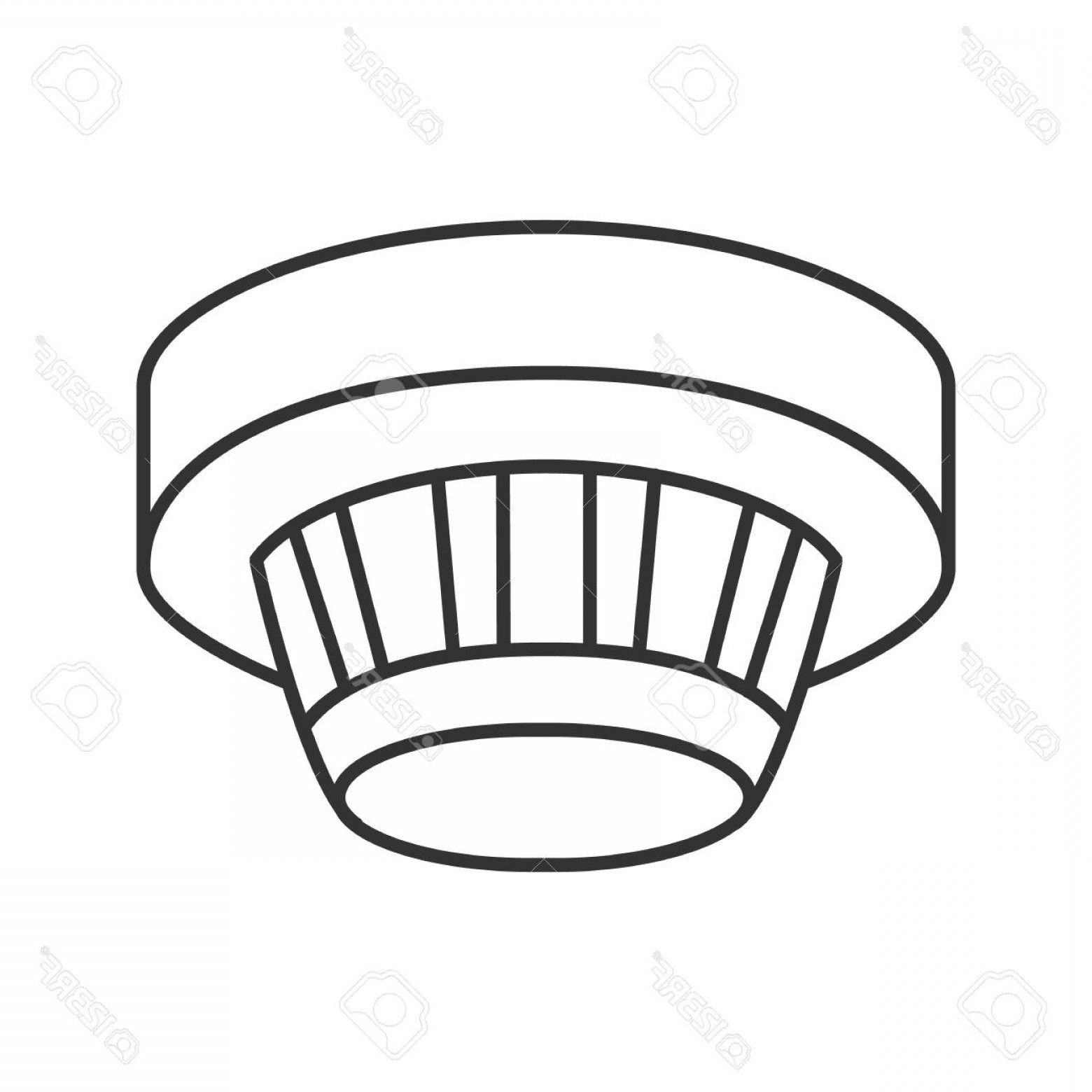 Fire Alarm Vector: Photostock Vector Smoke Detector Linear Icon Fire Alarm System Thin Line Illustration Contour Symbol Vector Isolated O