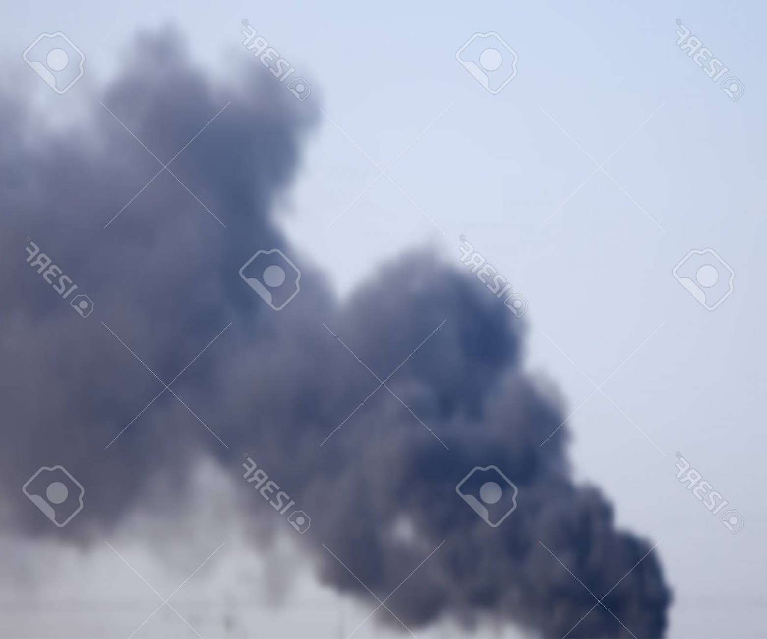 Billow Smoke Vector: Photostock Vector Smoke From A Fire In The City