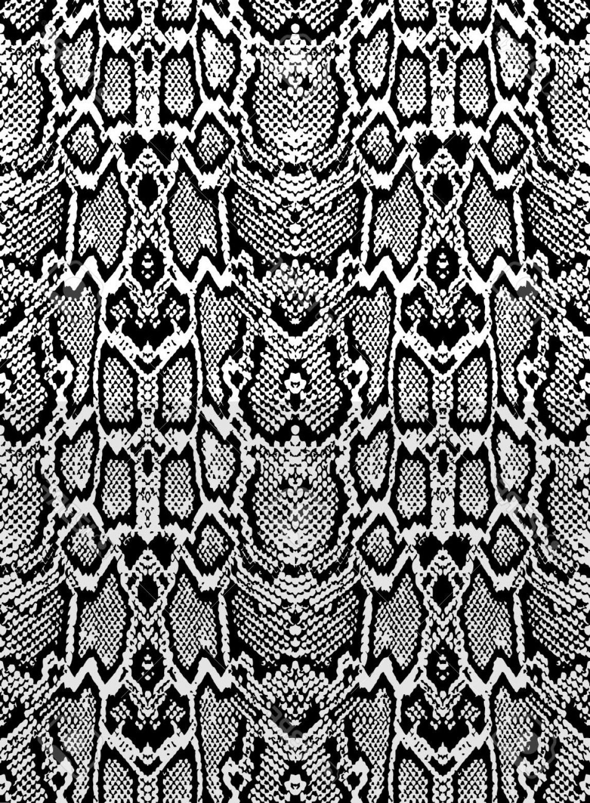 Rattlesnake Skin Vector: Photostock Vector Snake Skin Texture Seamless Pattern Black On White Background
