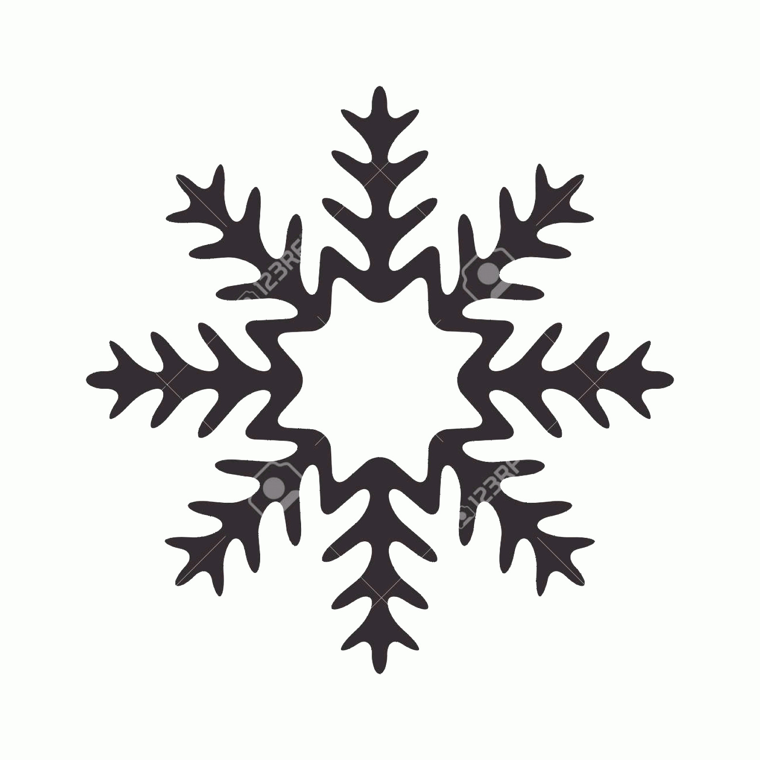 Simple Black Vector Snowflake: Photostock Vector Snowflake Icon Christmas And Winter Theme Simple Flat Black Illustration On White Background