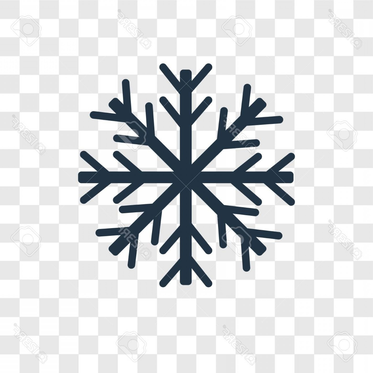 White Snowflake Vector Art: Photostock Vector Snowflake Vector Icon Isolated On Transparent Background Snowflake Transparency Logo Concept