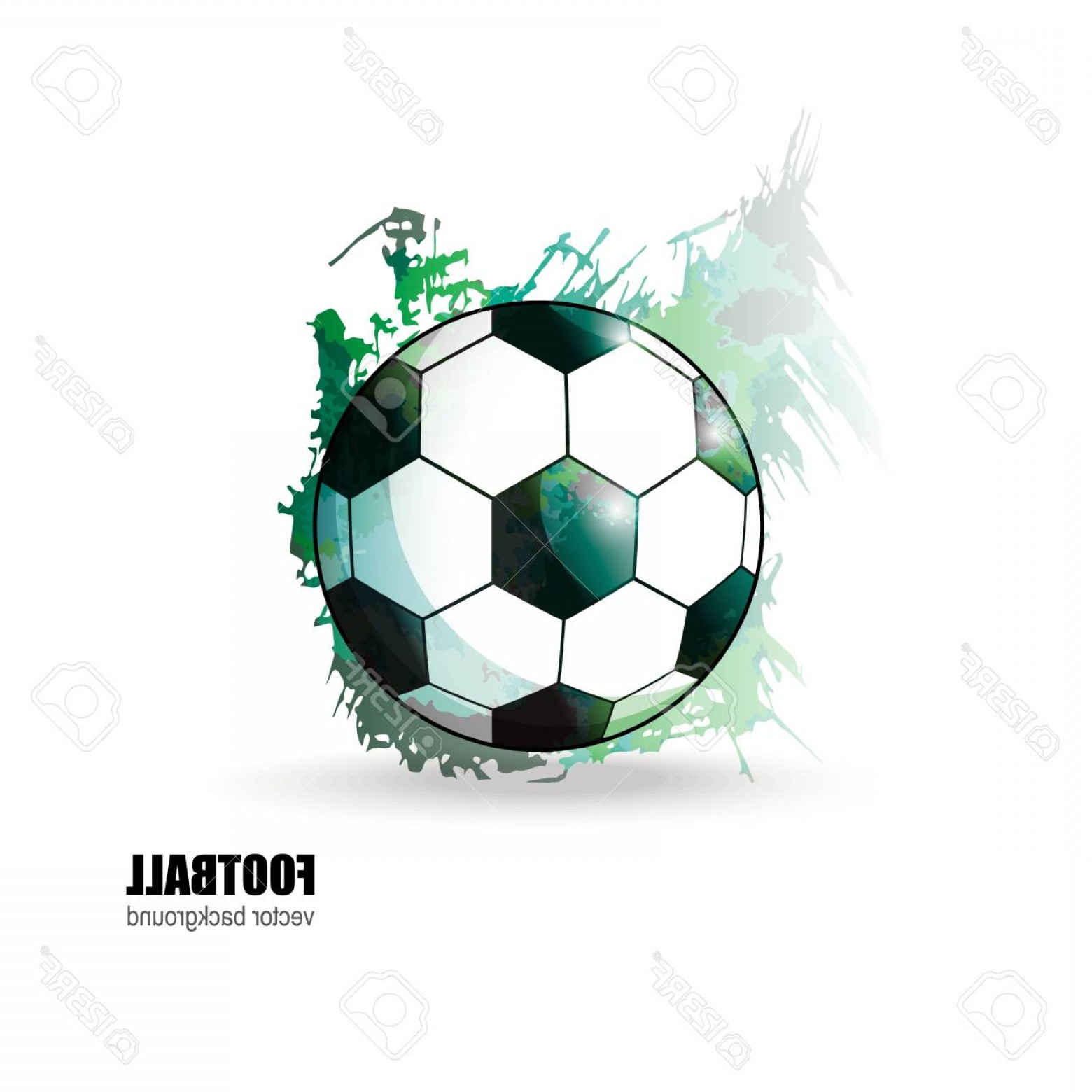 Abstract Football Vector Outline: Photostock Vector Soccer Ball Abstract Background The Watercolor Effect Football Vector Illustration For Cover Textile