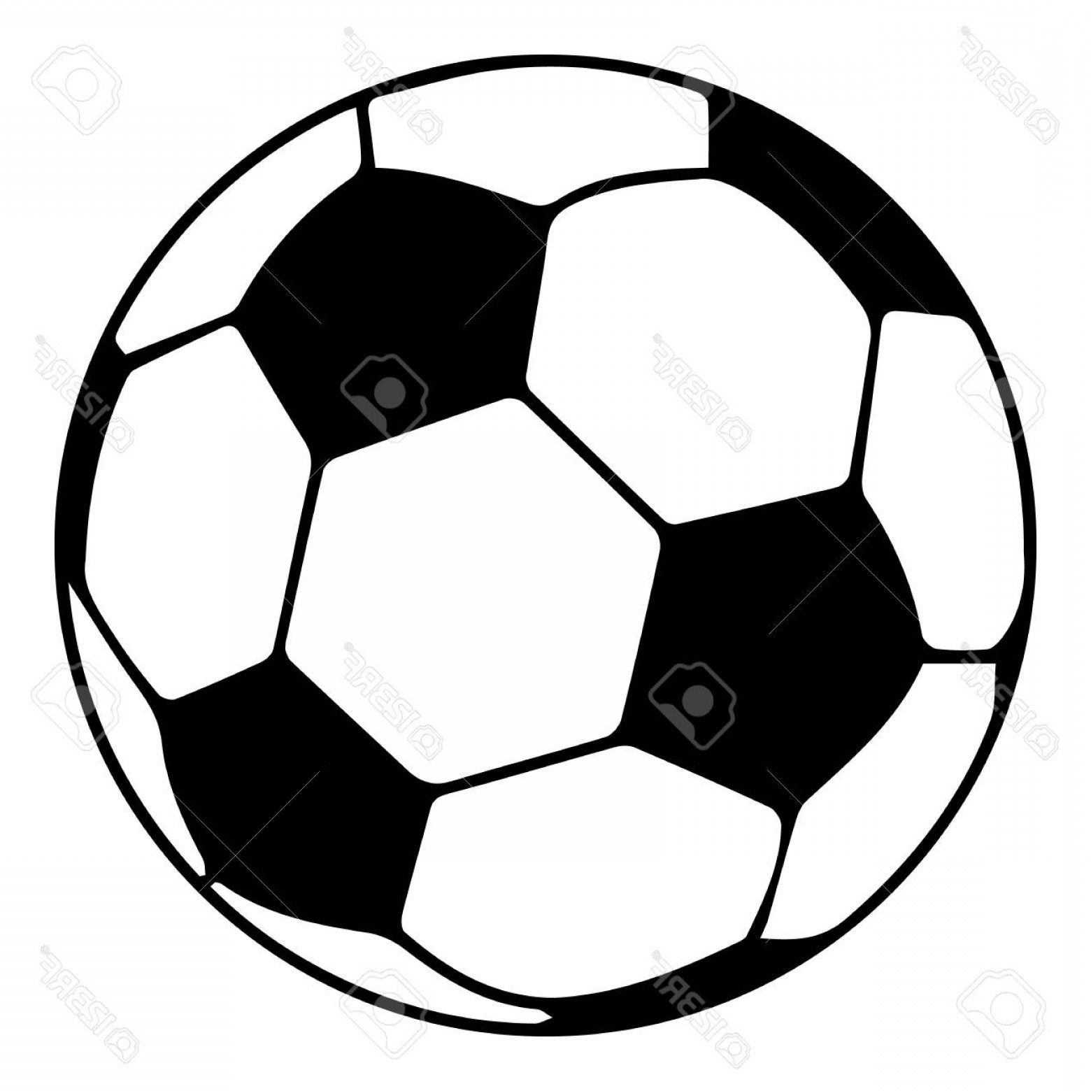Vector Soccer Ball Pattern: Photostock Vector Soccer Ball Icon Simple Black Style